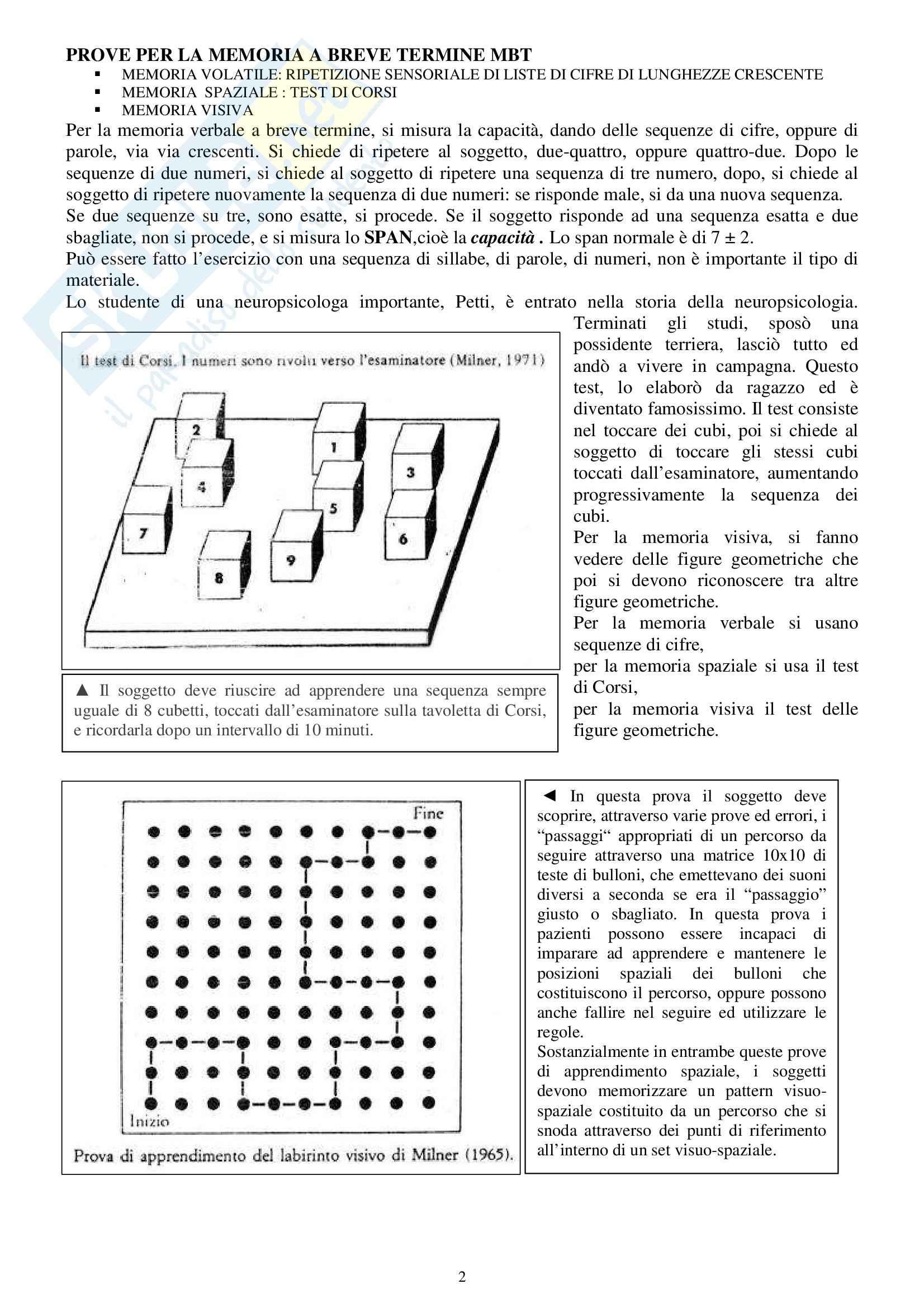 Fisiologia e biofisica - la memoria Pag. 2