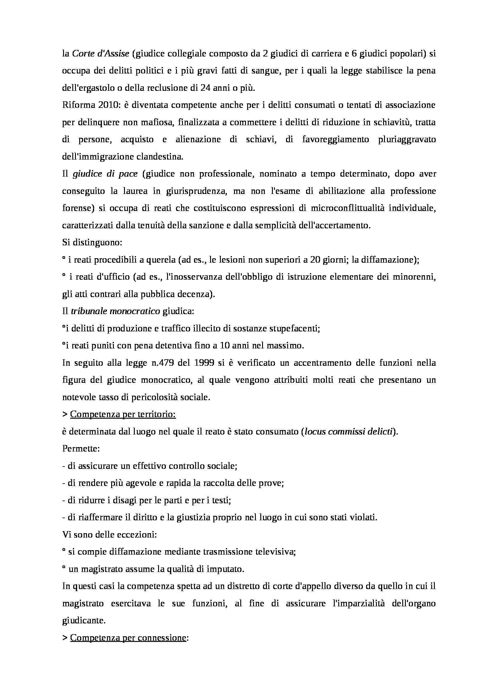 Riassunto esame Procedura Penale, prof. Scalfati, libro consigliato Procedura Penale, Tonini Pag. 2
