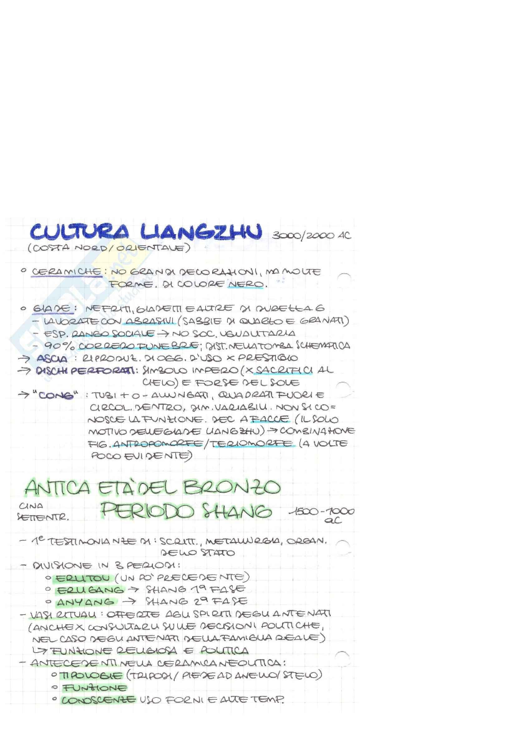 Riassunto esame Storia dell'arte della Cina, prof. Paternolli, libro consigliato La Cina, Pirazzoli Pag. 2