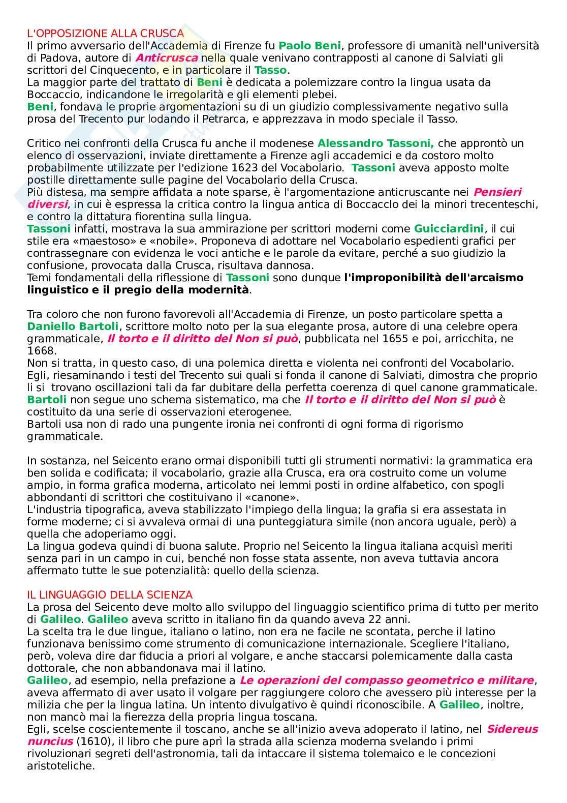 Riassunto esame Linguistica italiana I e didattica della lingua, prof. Franceschini, libro consigliato La lingua italiana: storia, testi, strumenti, Marazzini, Maconi Pag. 66