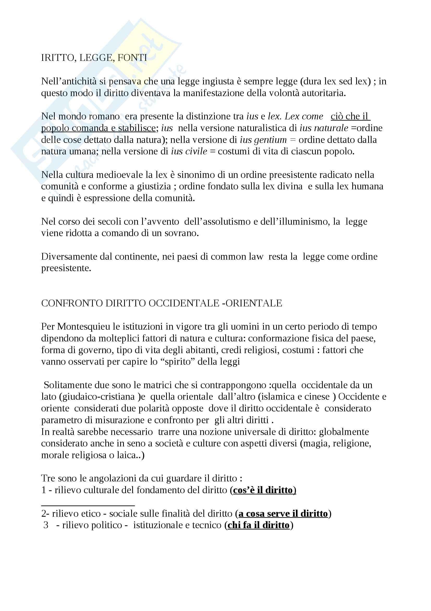 Riassunto esame Diritto, prof. Calzolaio, libro consigliato Comparazione giuridica e diritto europeo, Moccia Pag. 2