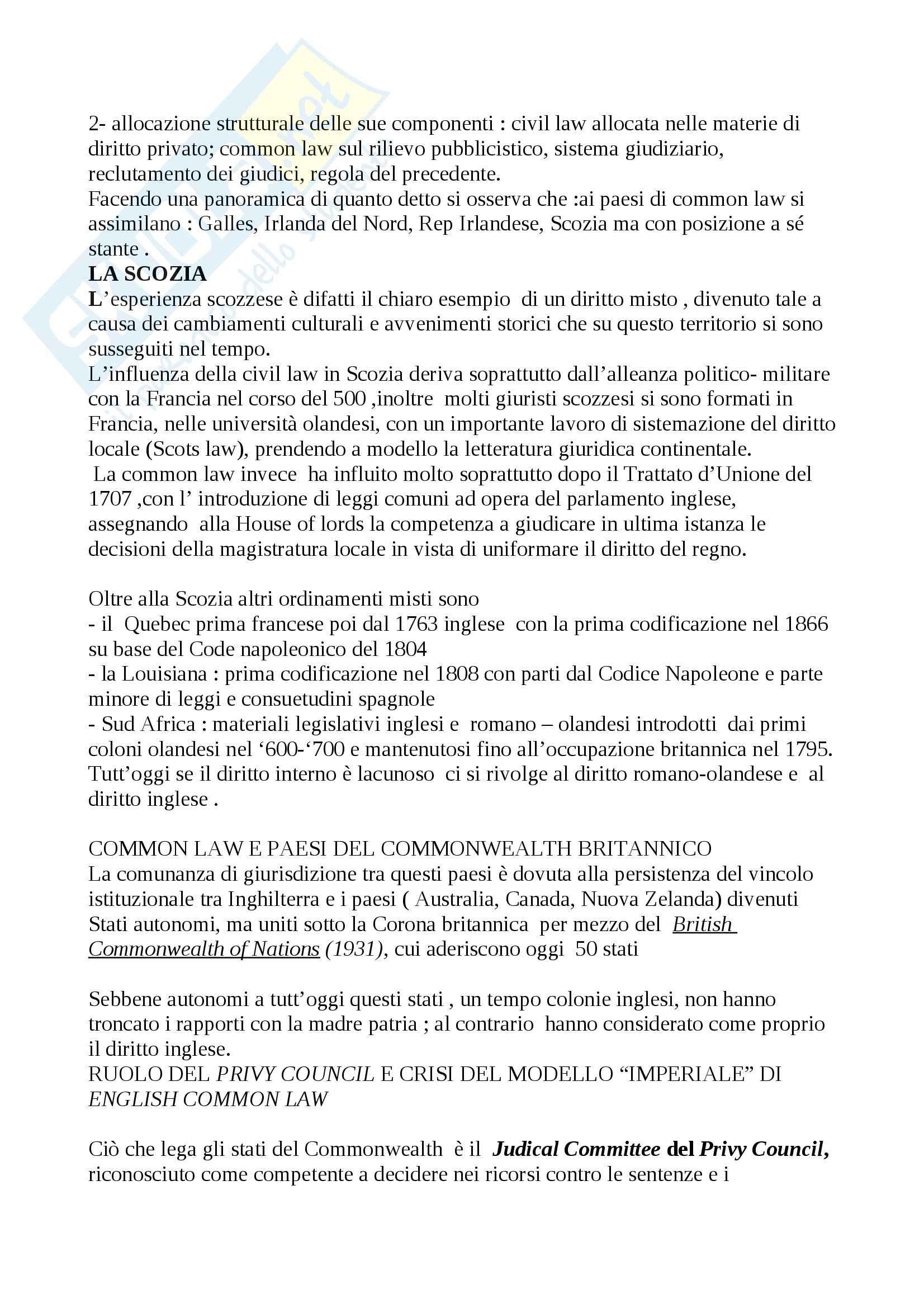 Riassunto esame Diritto, prof. Calzolaio, libro consigliato Comparazione giuridica e diritto europeo, Moccia Pag. 41