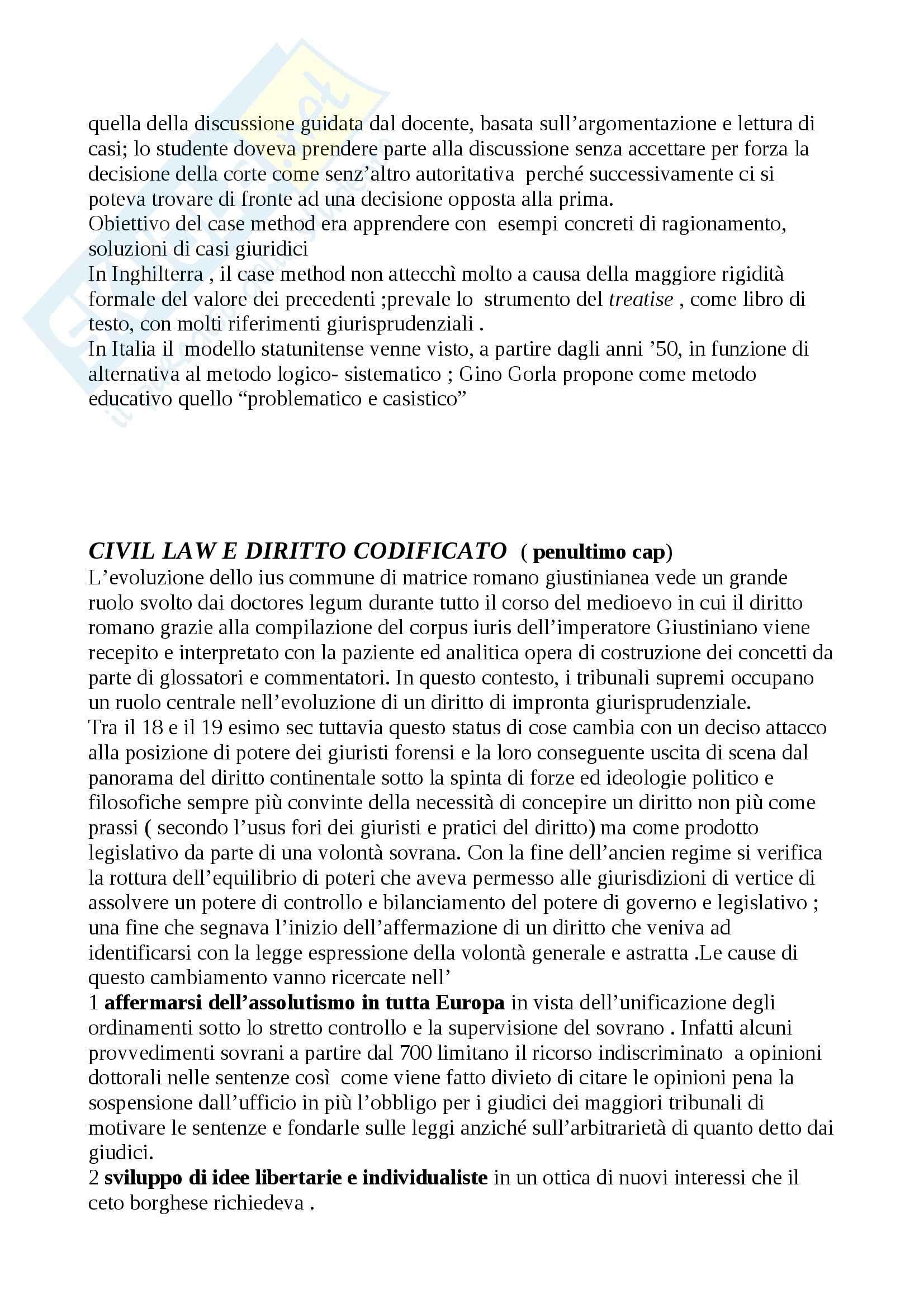 Riassunto esame Diritto, prof. Calzolaio, libro consigliato Comparazione giuridica e diritto europeo, Moccia Pag. 46