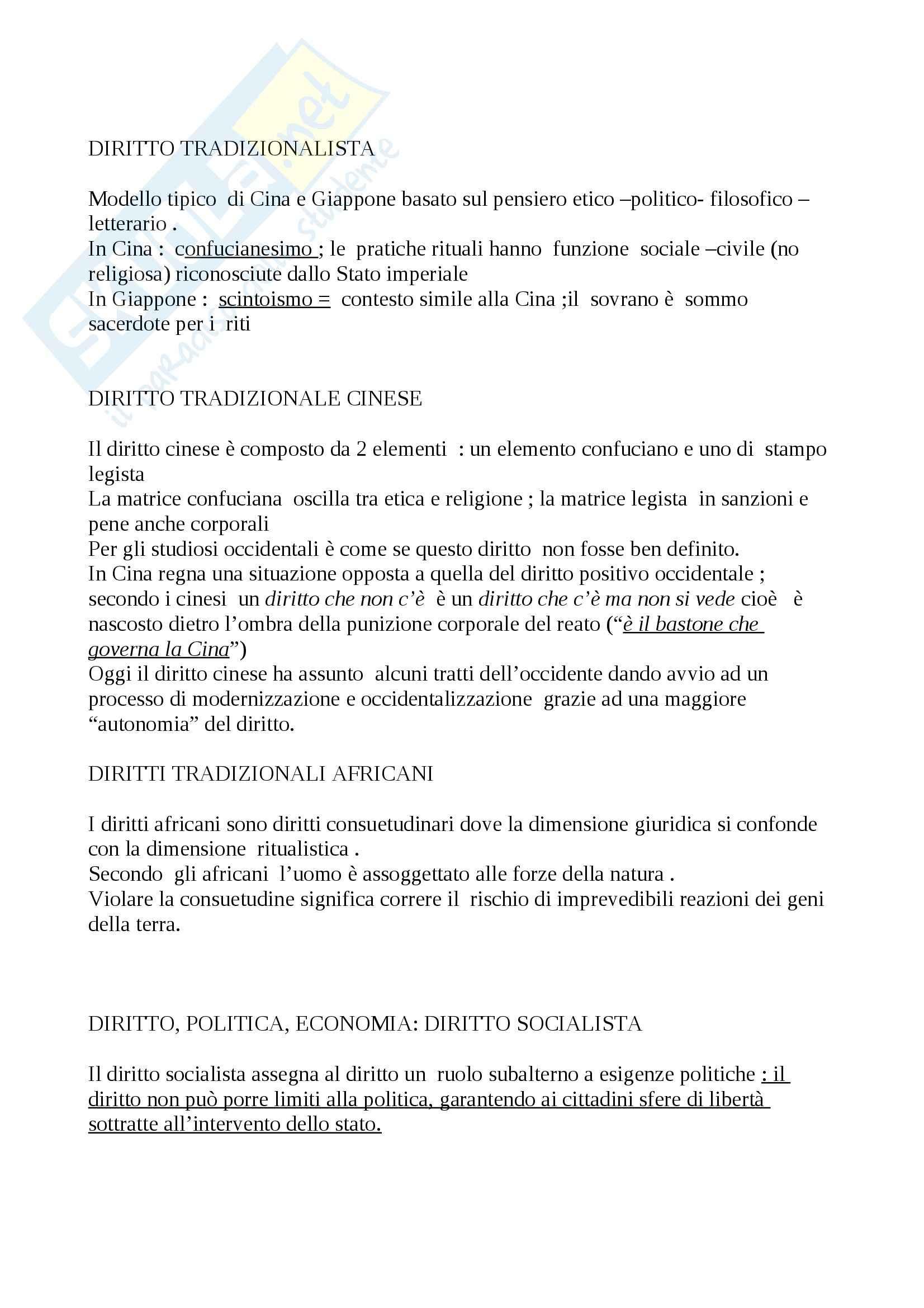 Riassunto esame Diritto, prof. Calzolaio, libro consigliato Comparazione giuridica e diritto europeo, Moccia Pag. 6