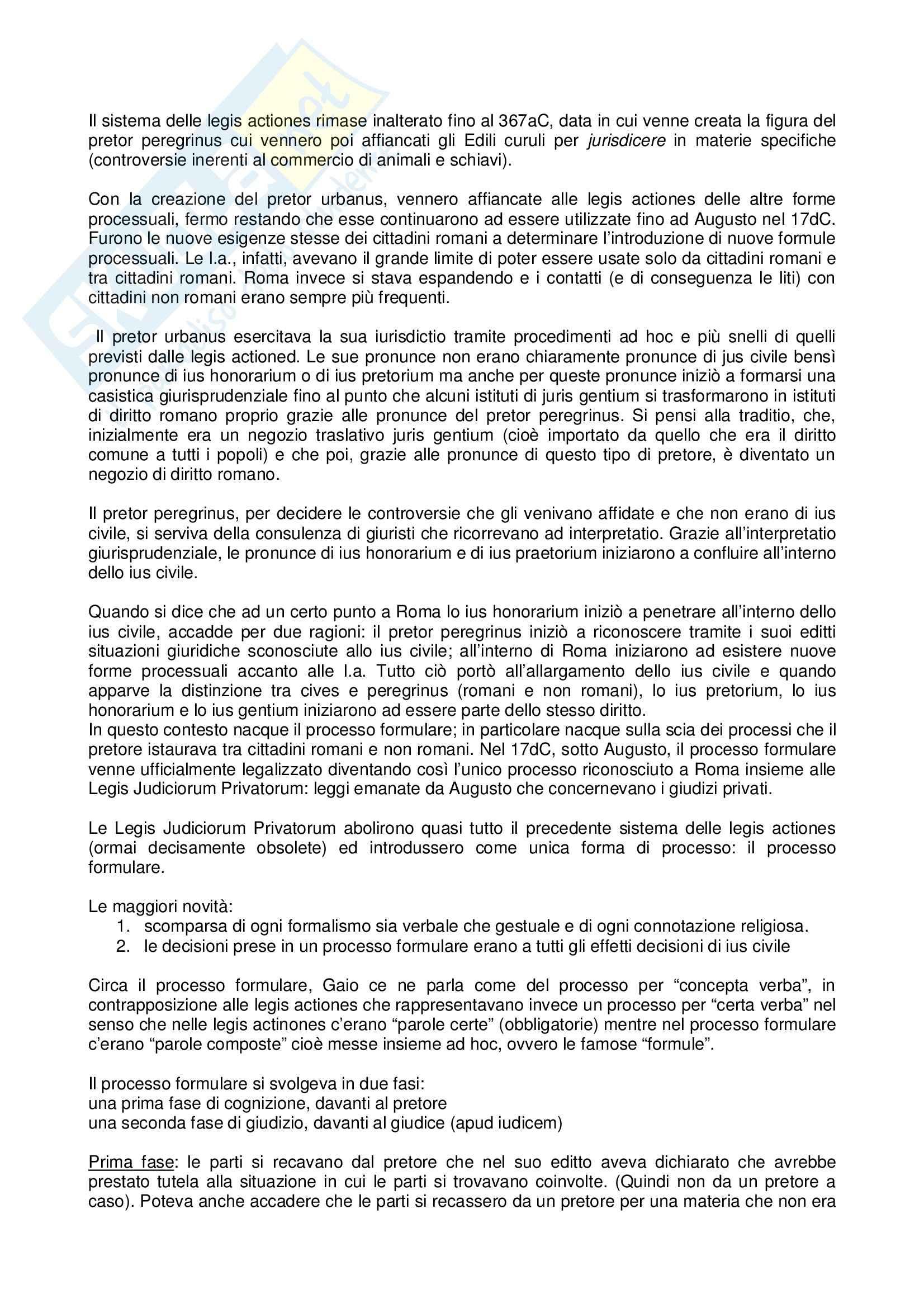 Diritto romano -  Legis Actiones Pag. 2