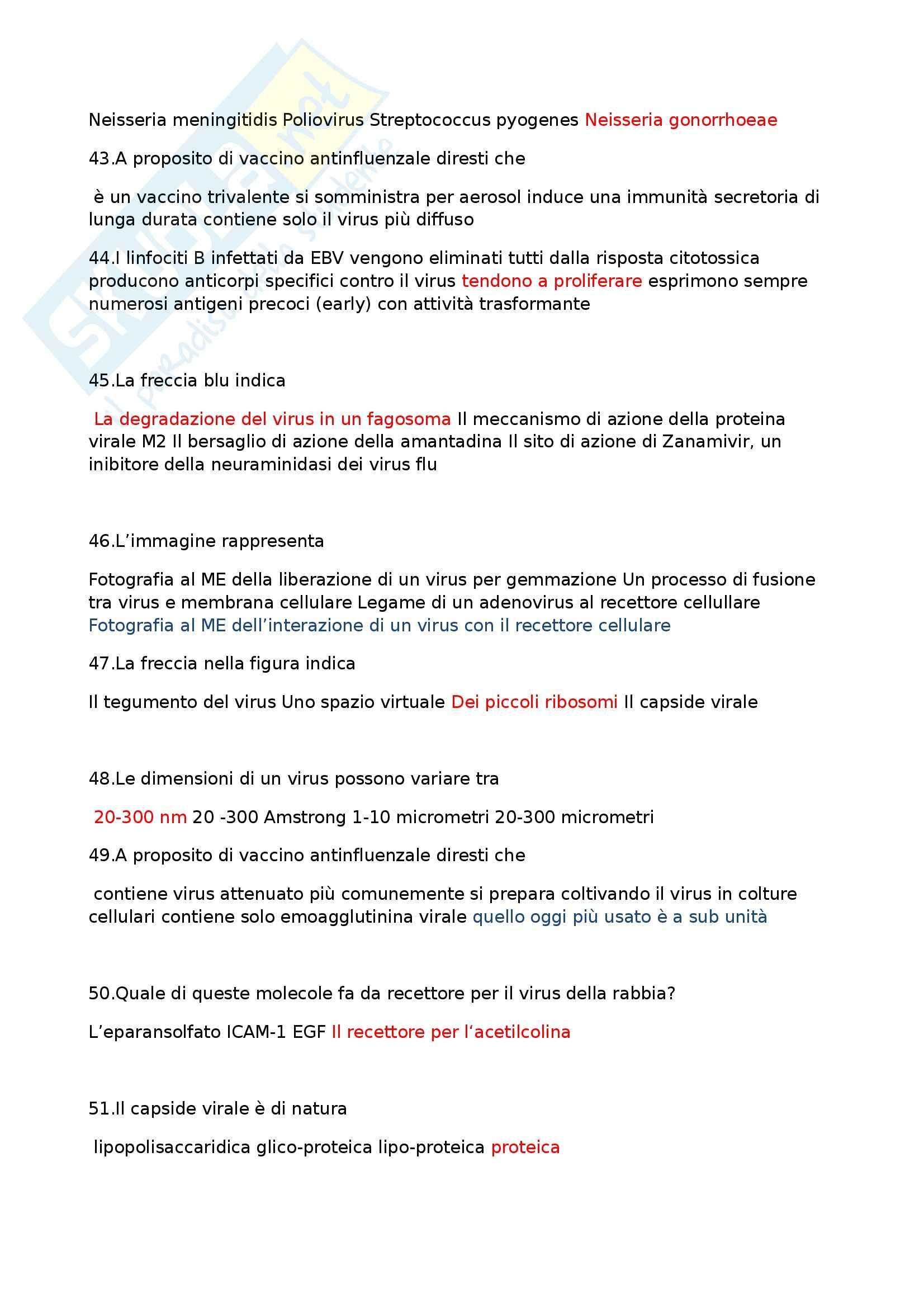 Domande e Risposte - Microbiologia Pag. 6