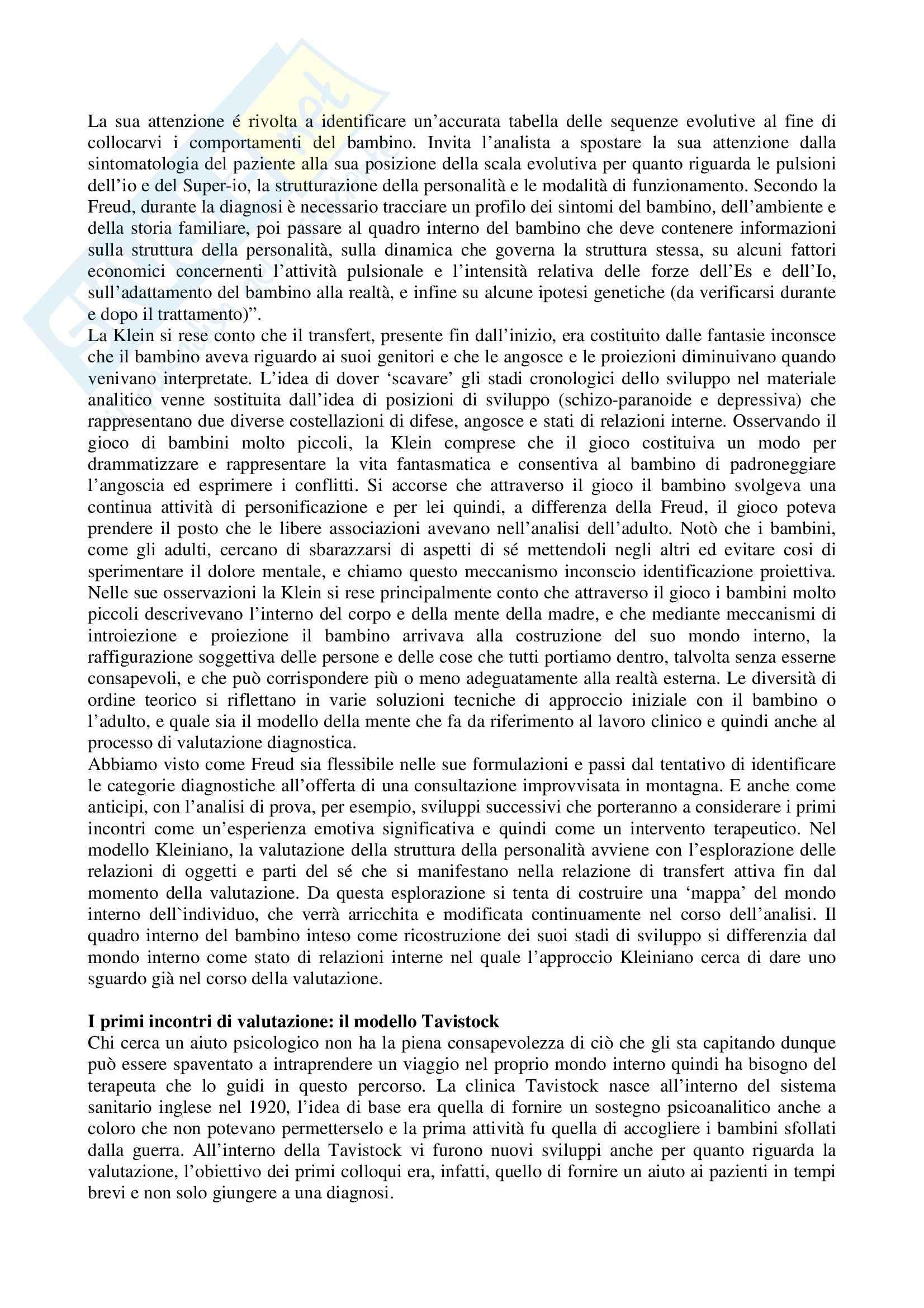 Riassunto esame Psicologia Dinamica nello Sviluppo, prof. Guarino, libro consigliato Un Buon Incontro, Alvarez Pag. 2