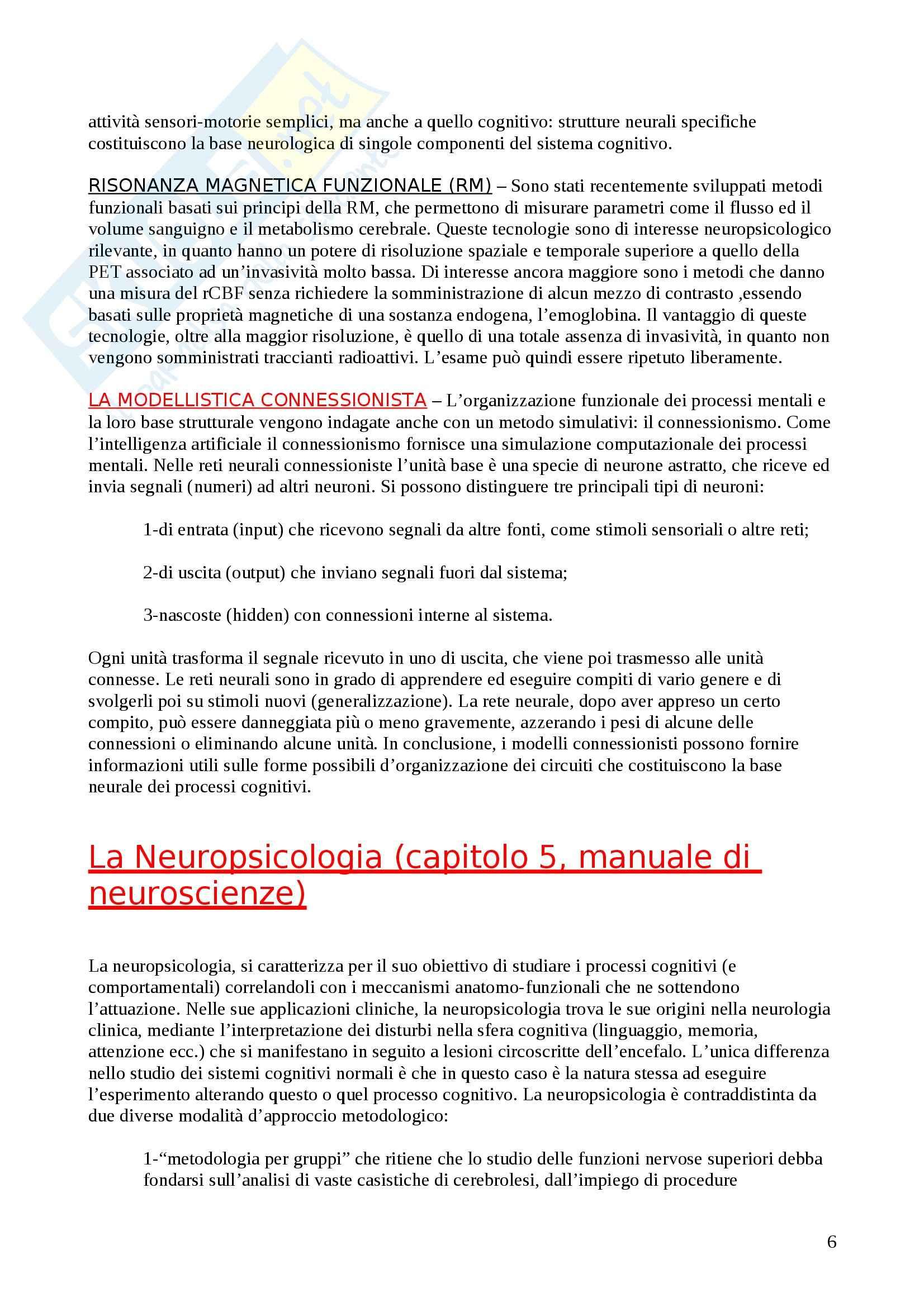 Struttura e funzionamento dei sistema nervoso - la psicologia fisiologica Pag. 6
