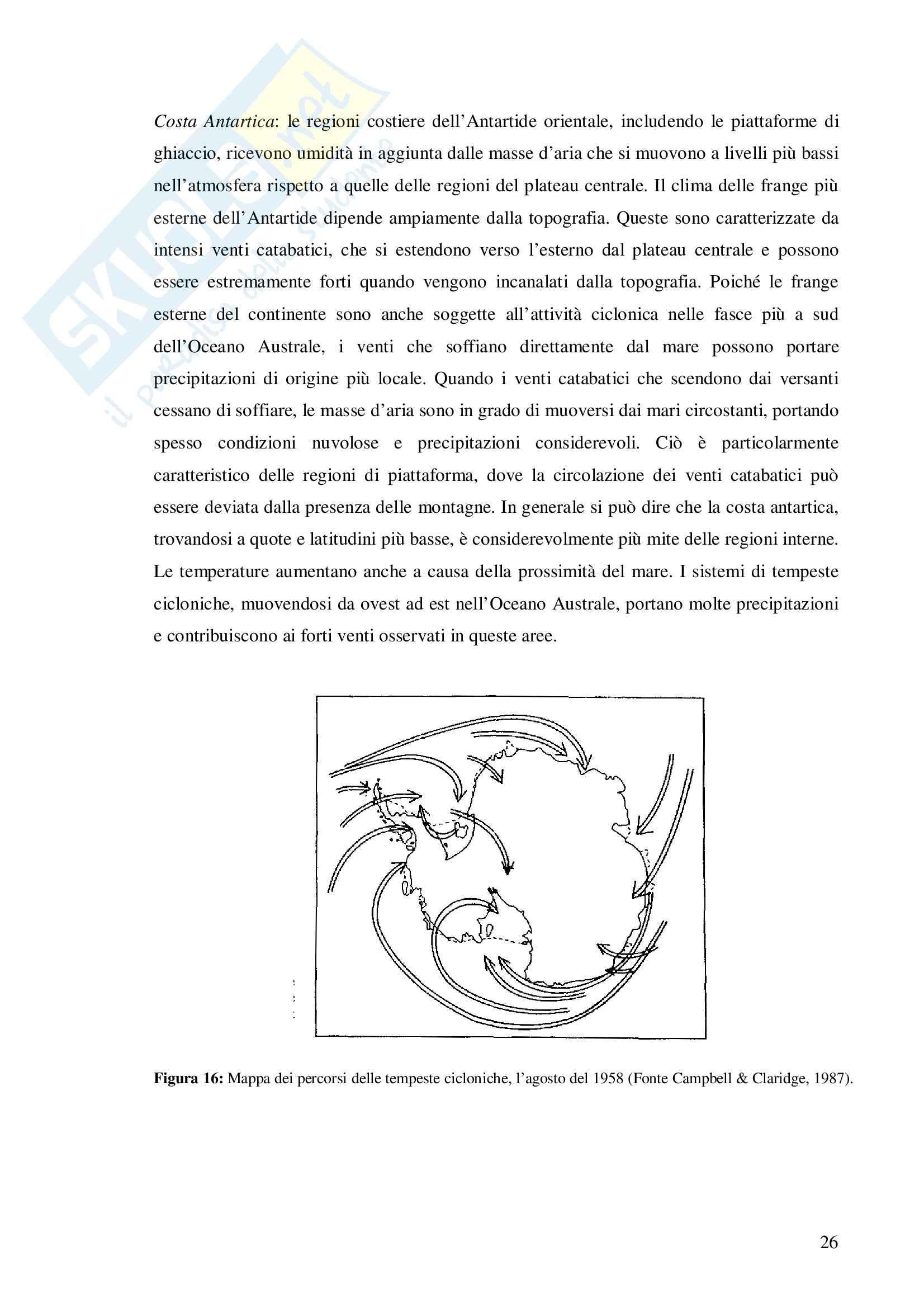 Tesi -  Antartide - Regime termico dei cunei di ghiaccio nella Terra Vittoria Settentrionale Pag. 26