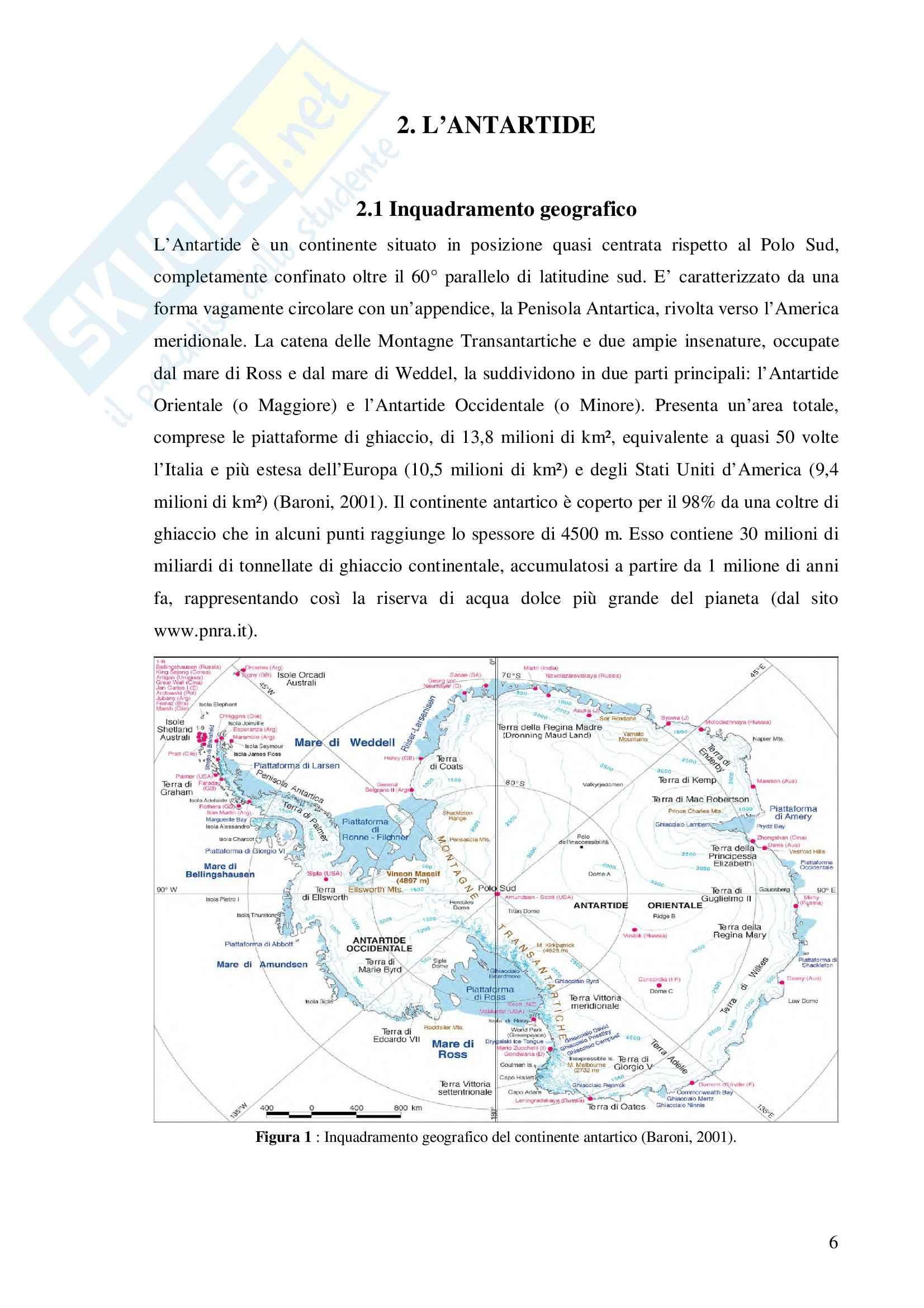 Tesi -  Antartide - Regime termico dei cunei di ghiaccio nella Terra Vittoria Settentrionale Pag. 6