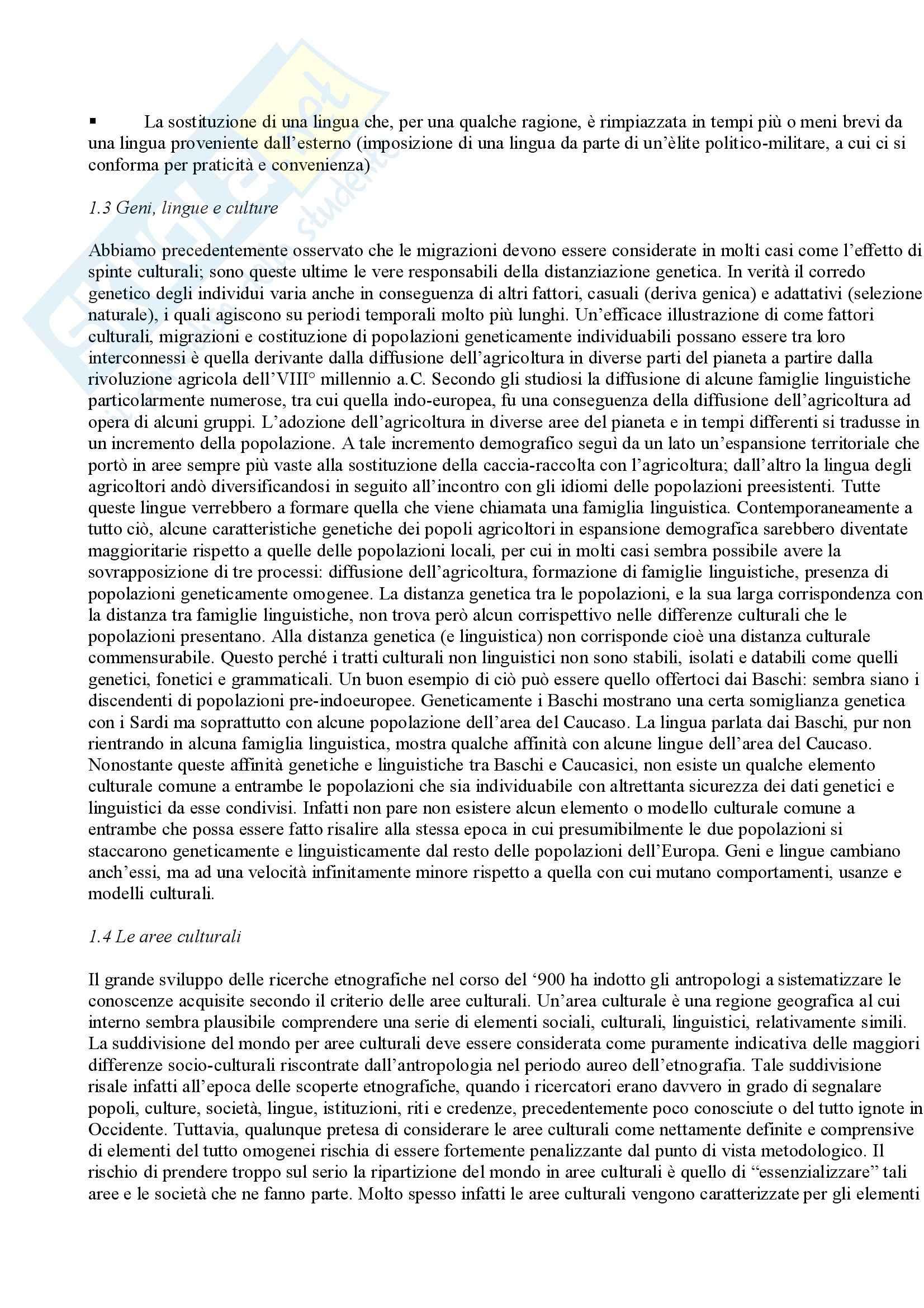 Antropologia culturale – Elementi Pag. 11