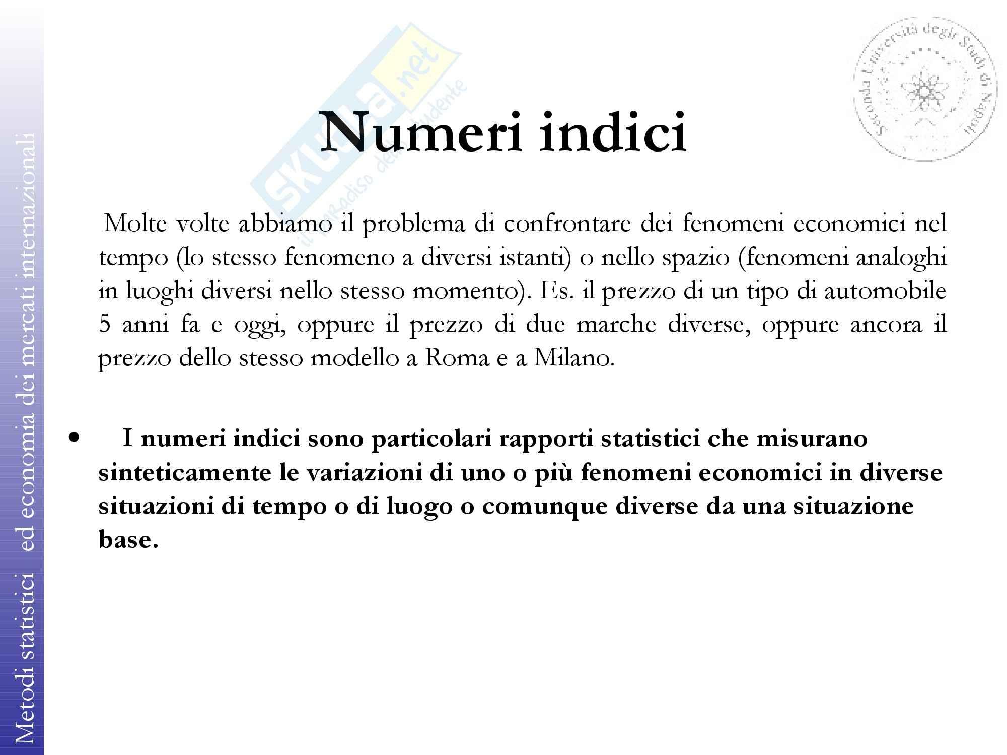 Metodi statistici e economici dei mercati internazionali - Appunti Pag. 2