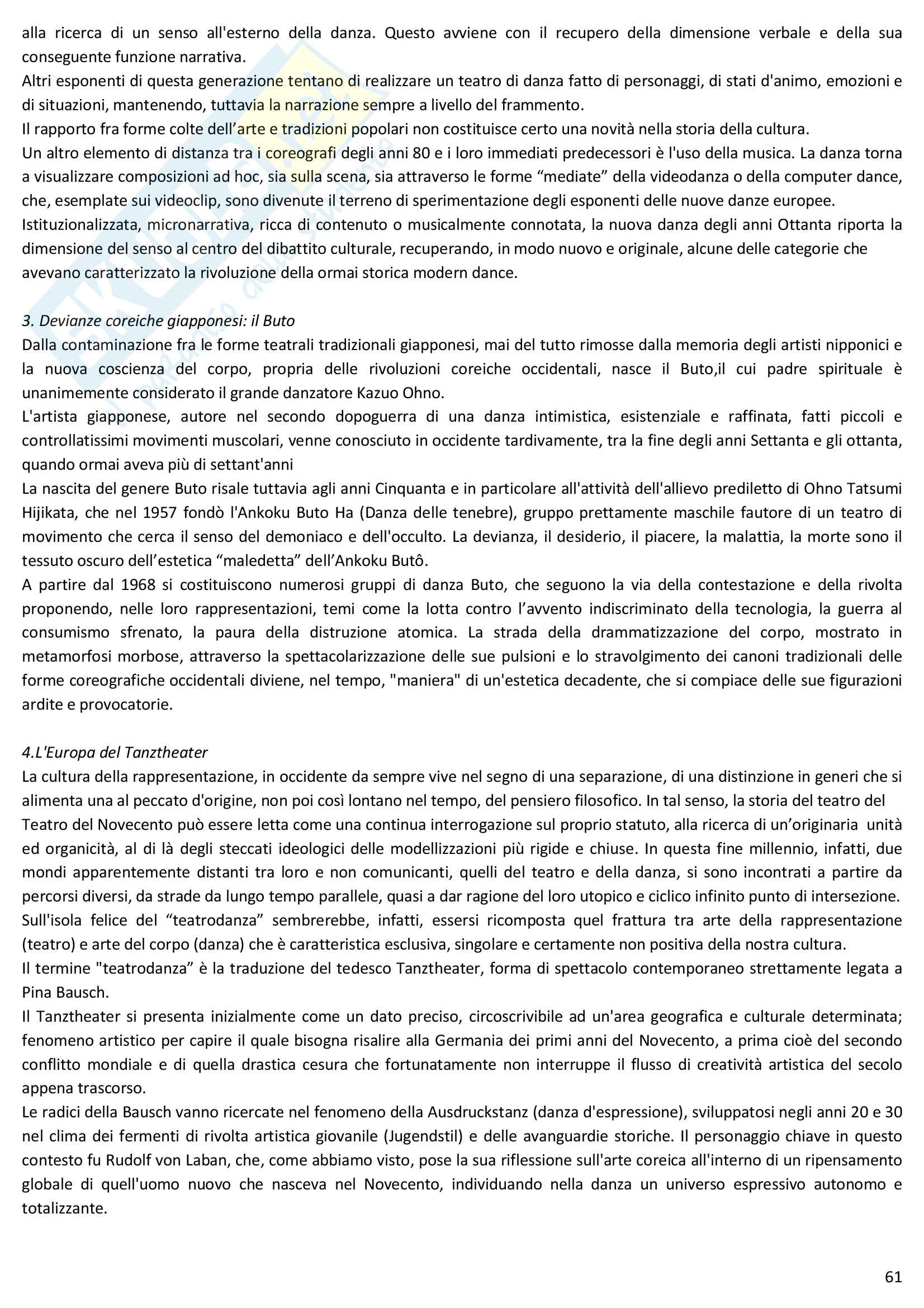 Riassunto esame Storia della danza e del mimo, prof. Pagnini, libro consigliato Storia della danza dal Medioevo ai giorni nostri, Alessandro Pontremoli Pag. 61