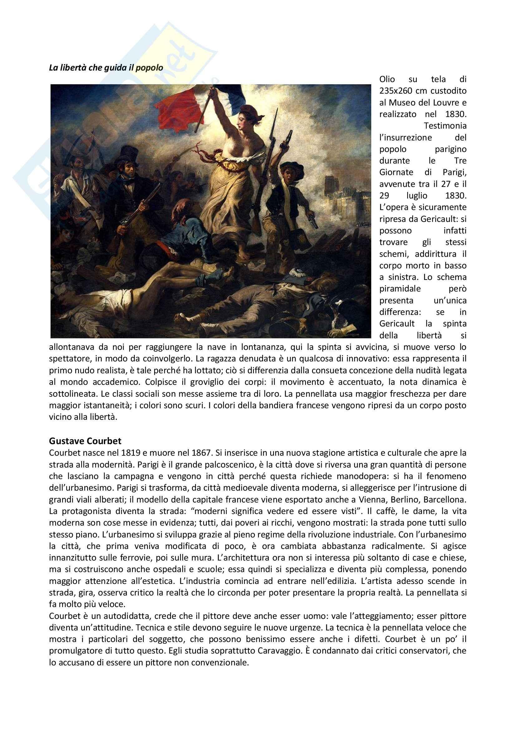 Storia dell'arte contemporanea - il Romanticismo Pag. 2