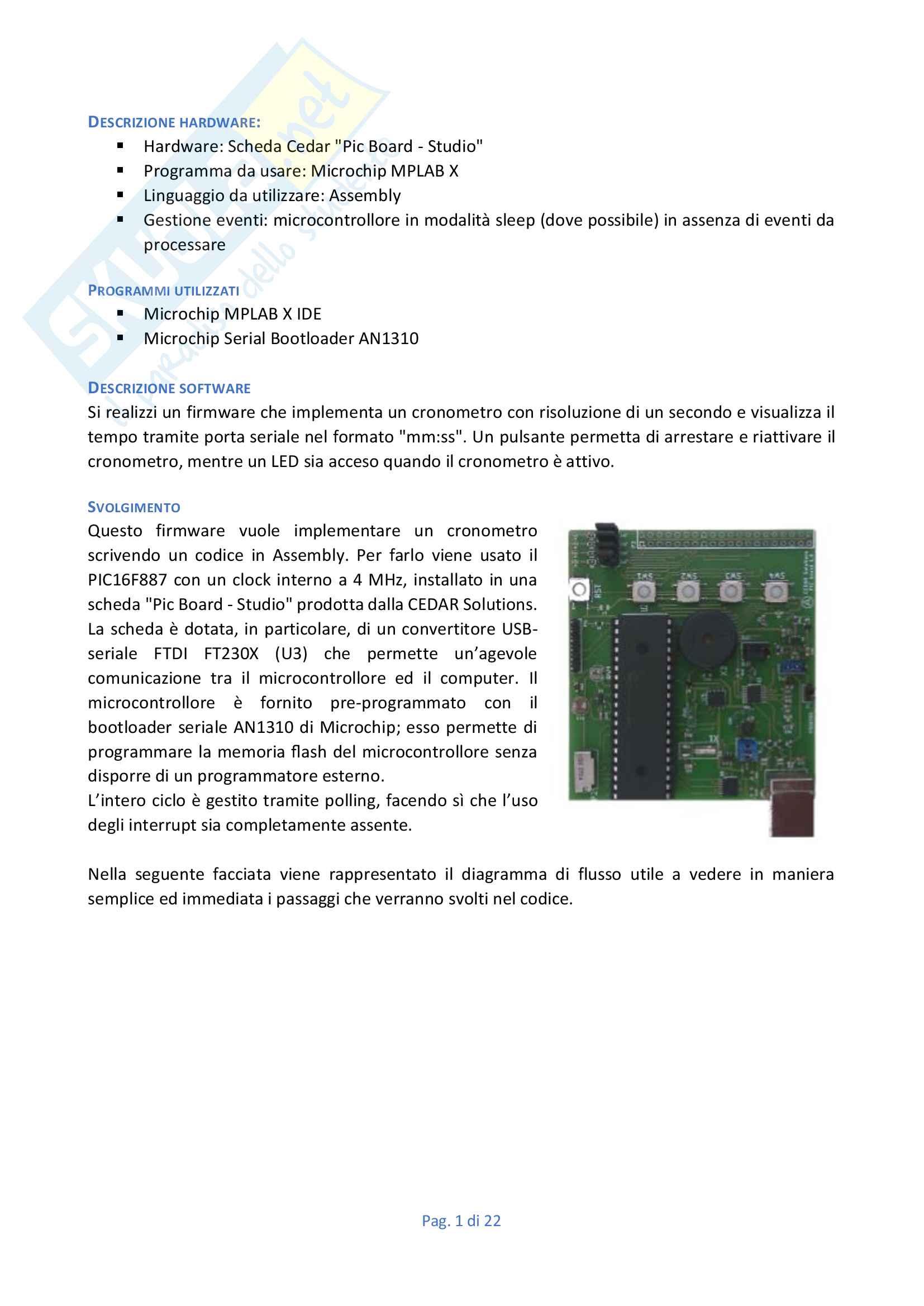Tesina sistemi elettronici, linguaggio Assembly - con codice