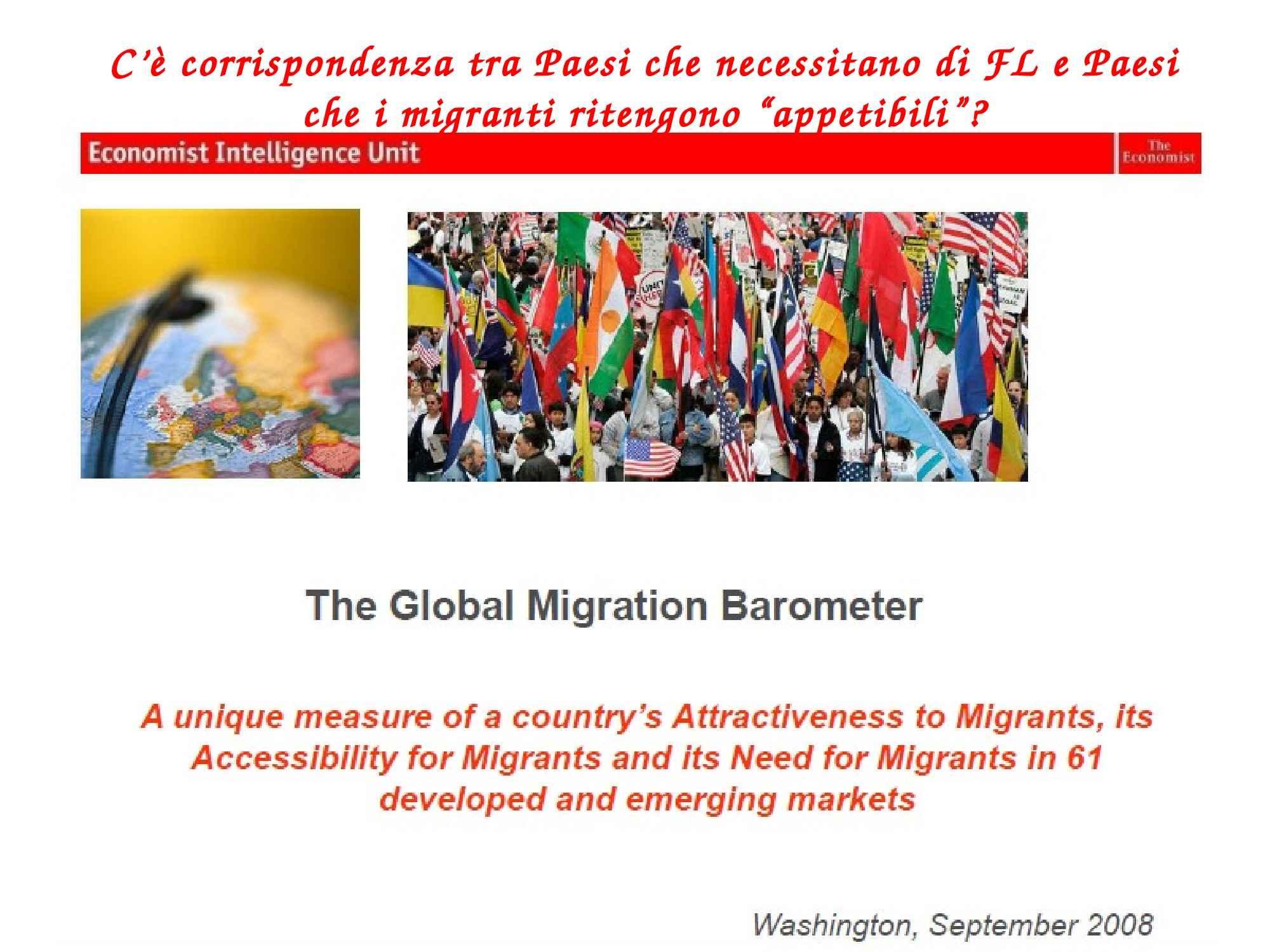 Corrispondenza tra richiesta di forza lavoro e flussi migratori