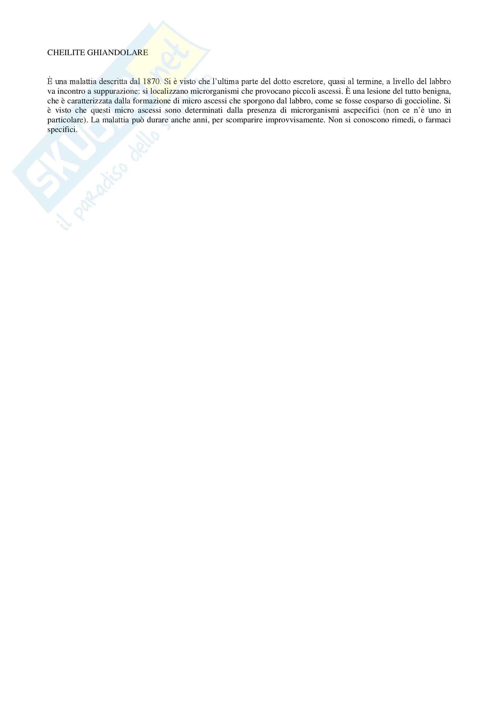 Anatomia patologica - cheilite ghiandolare