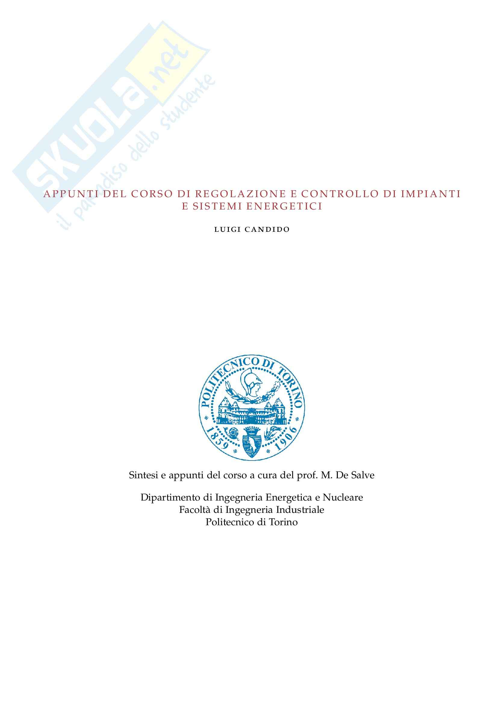 appunto F. Subba  Complementi di centrali termoelettriche, nucleari e regolazione