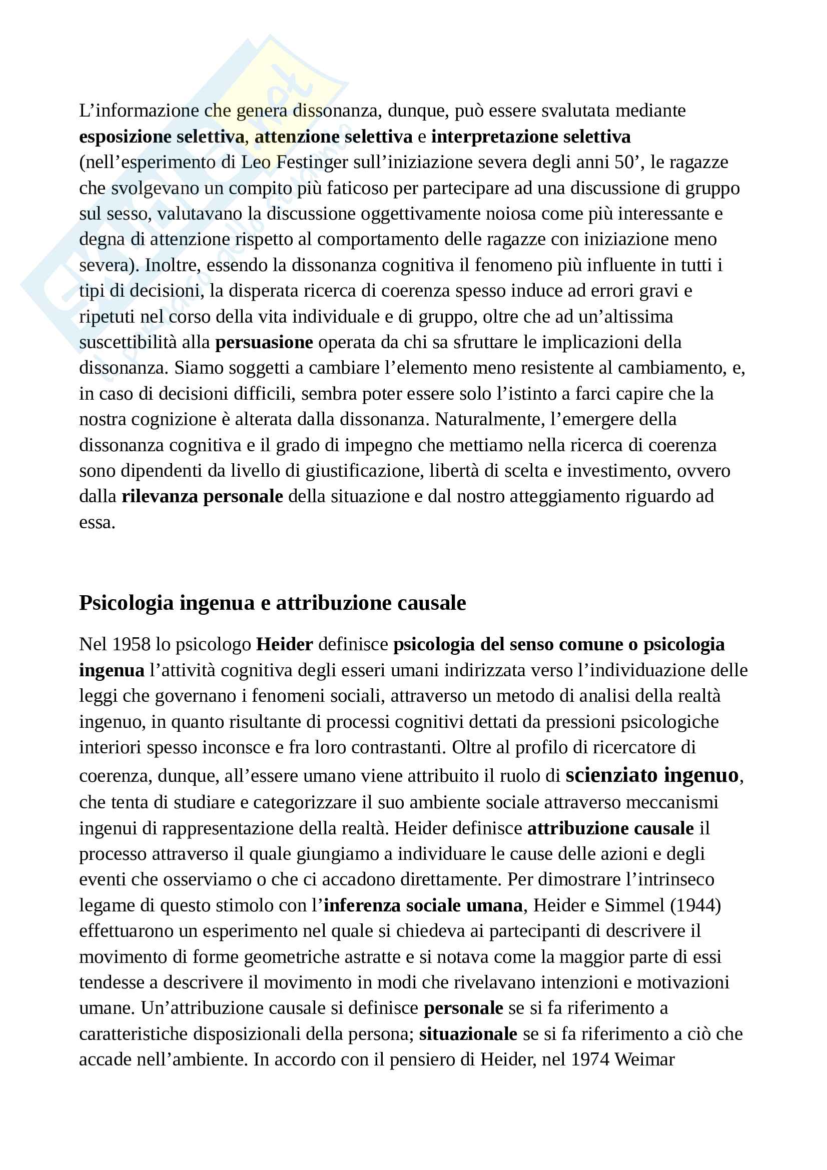 Appunti di psicologia sociale ottimi per studiare e per superare l'esame Pag. 11