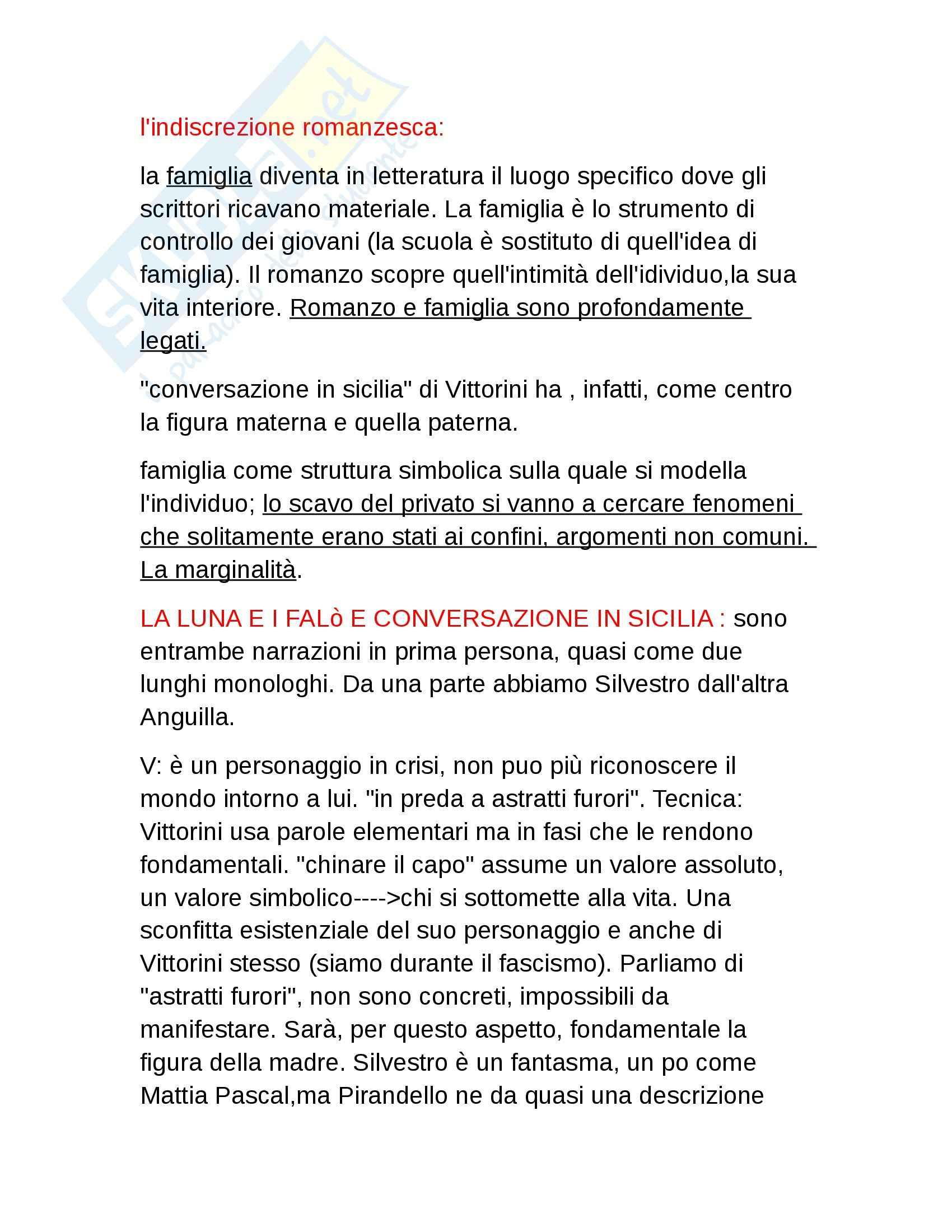 Vittorini e Pavese, Letteratura italiana contemporanea