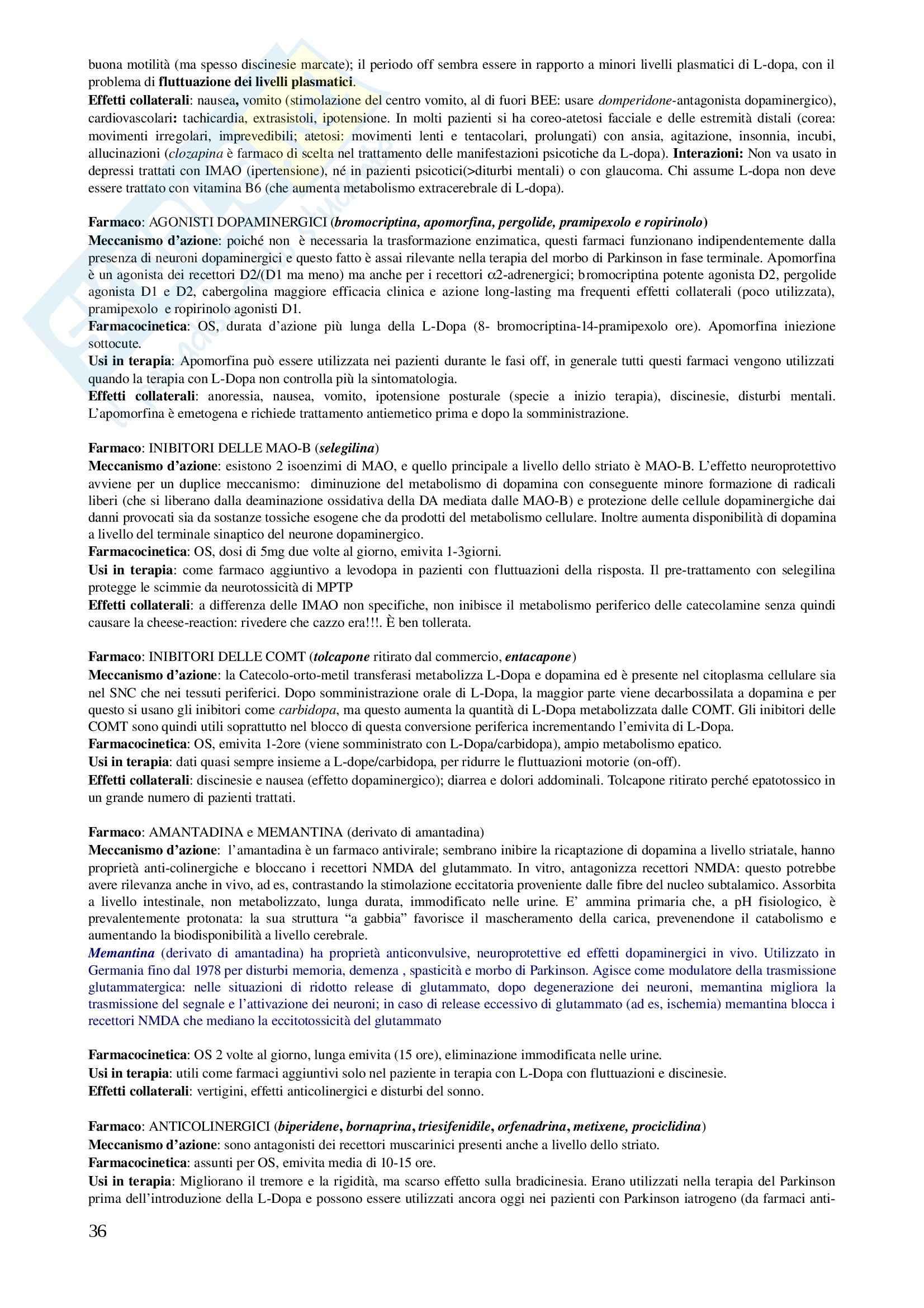 Basi Farmacologiche dellla Terapia II - Appunti Pag. 36