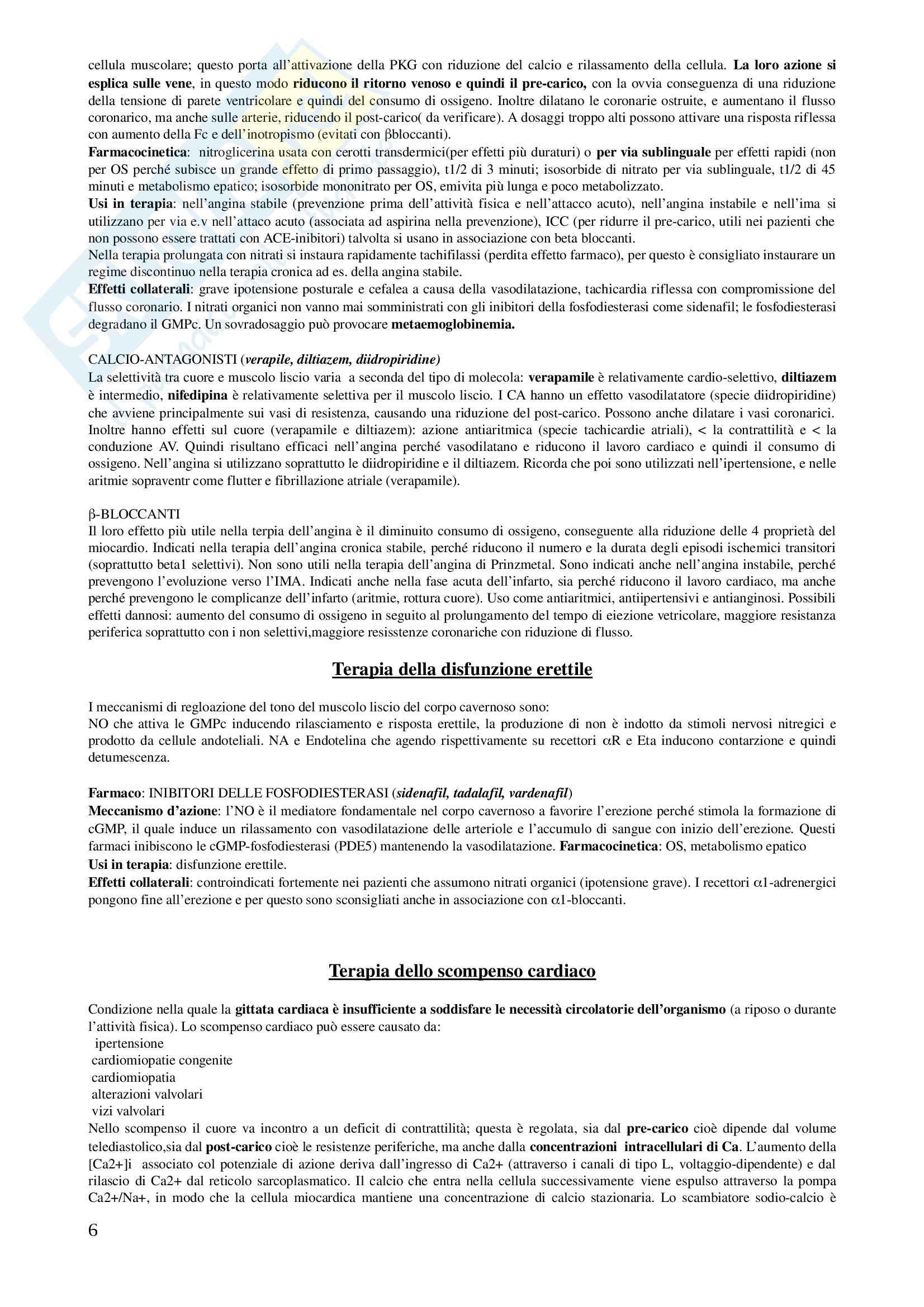 Basi Farmacologiche dellla Terapia II - Appunti Pag. 6