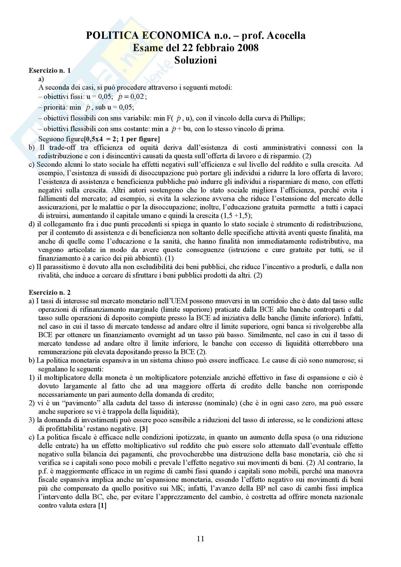 Economia politica - Esercizi (prima parte) Pag. 11