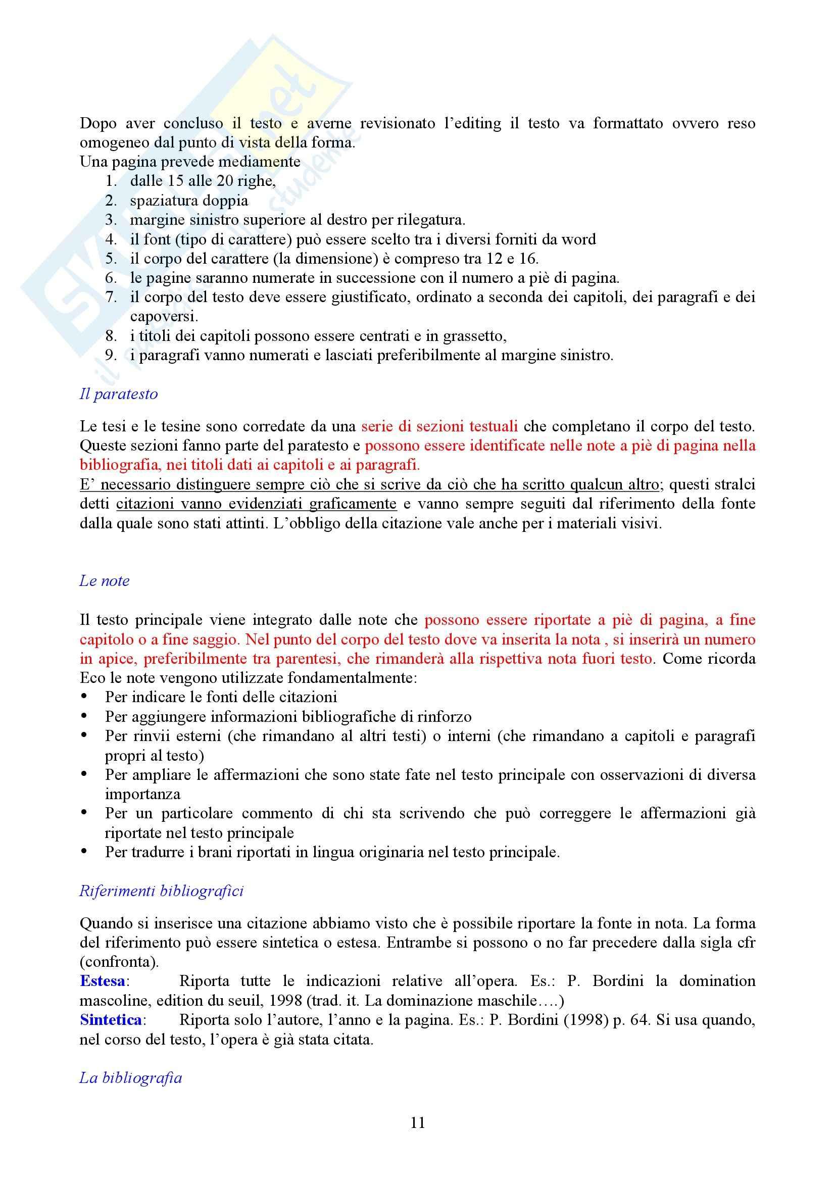 Tecniche espressive e composizione testi in italiano - imparare a scrivere - Cicalese Pag. 11