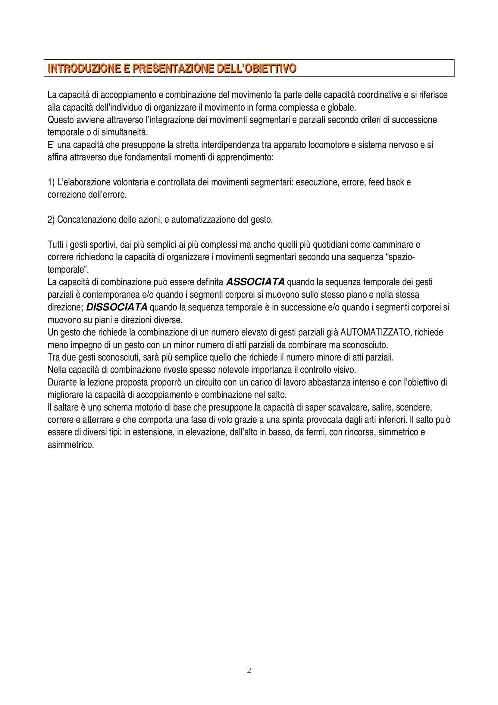 Teoria e Metodologia del movimento umano - esercitazione Pag. 2