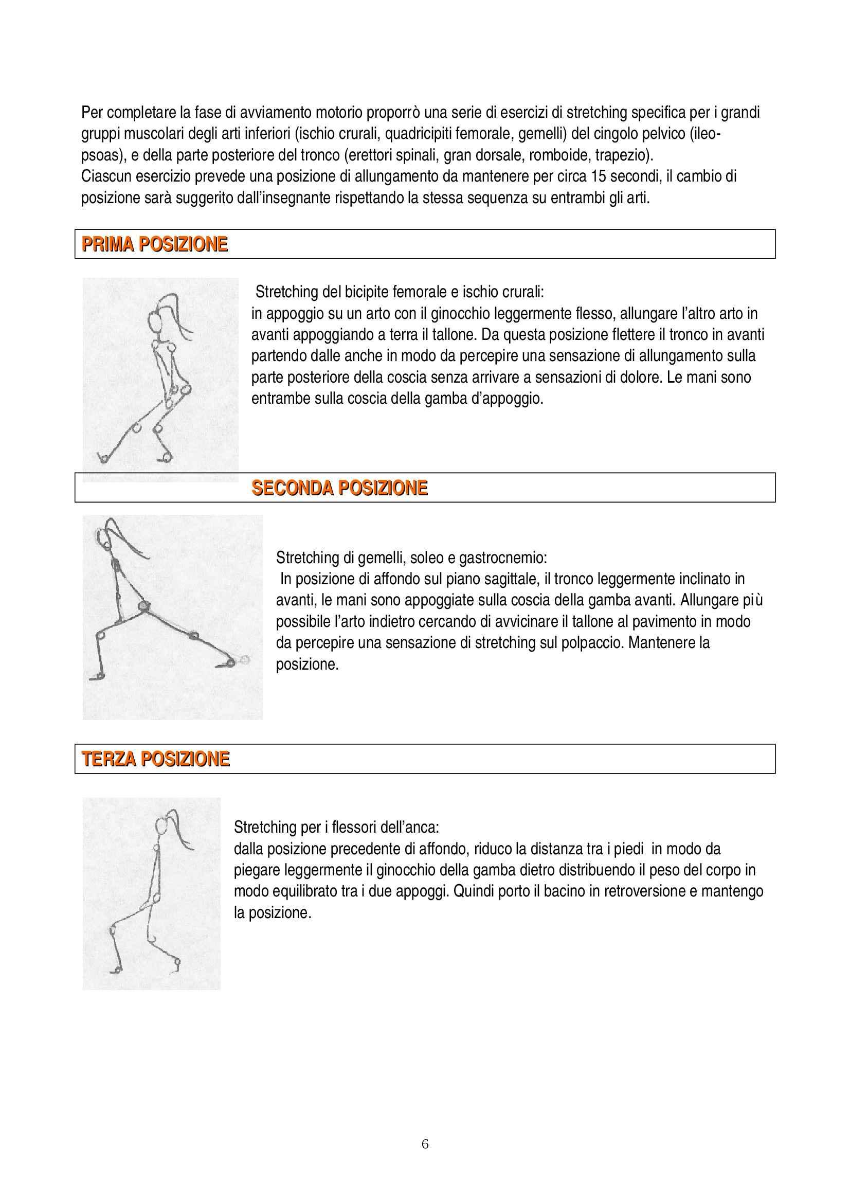 Teoria e Metodologia del movimento umano - esercitazione Pag. 6