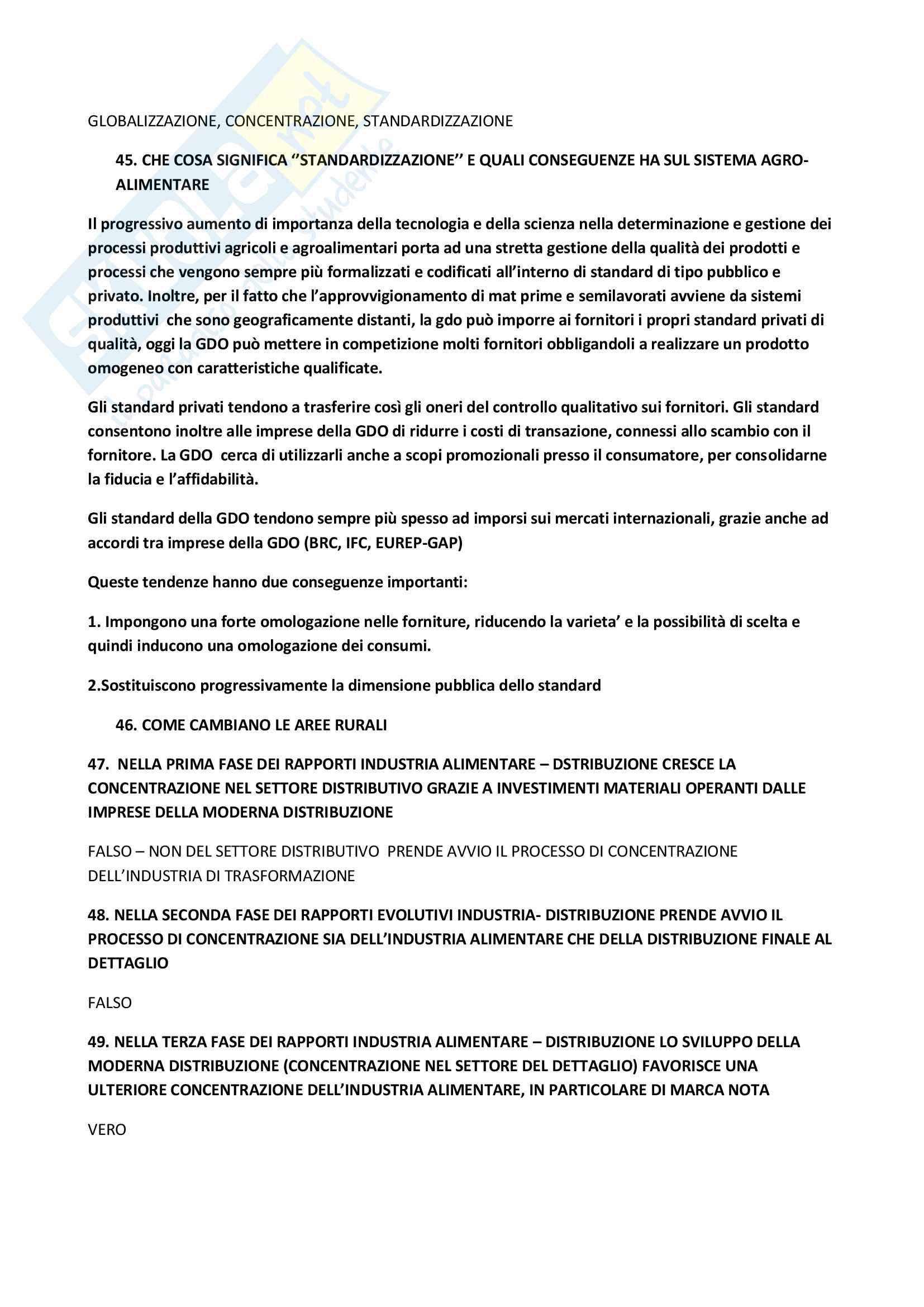 Domande Agroalimentare Pag. 16