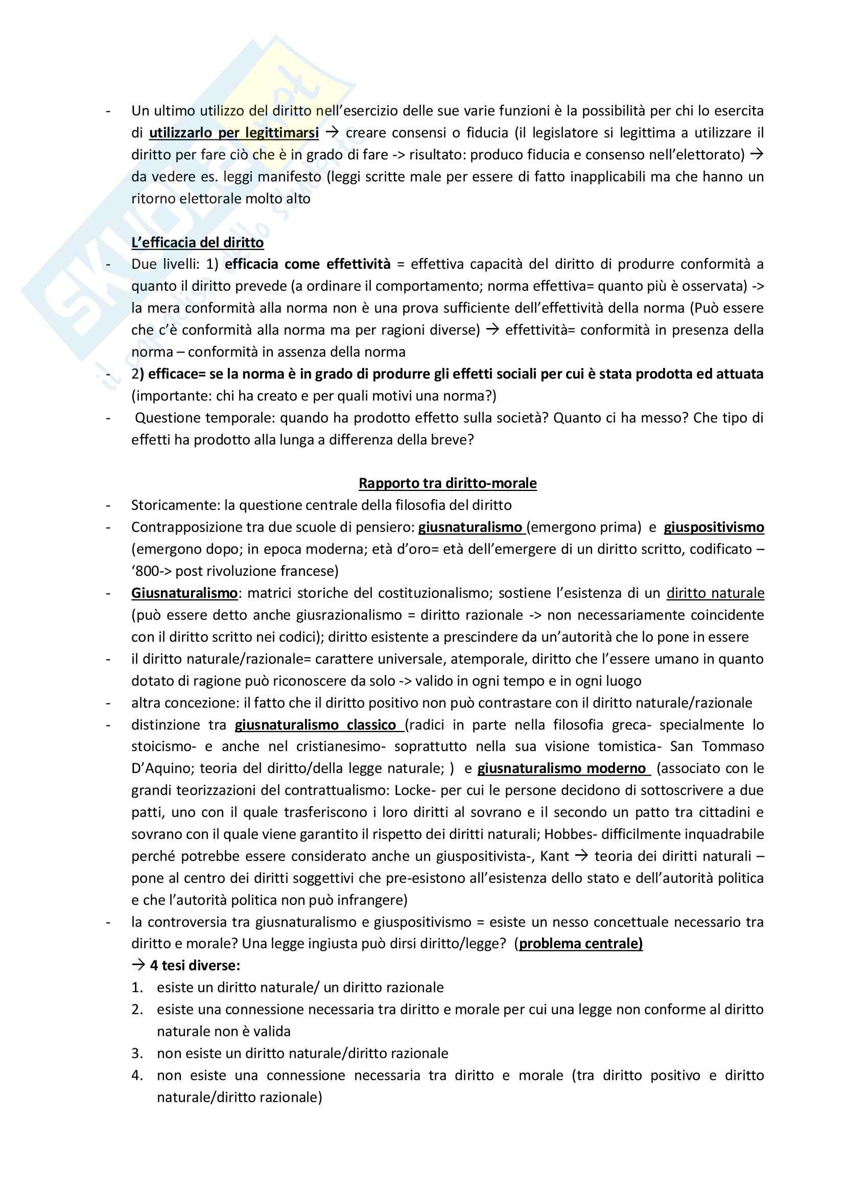 Appunti lezione - Filosofia e politica del diritto Pag. 11