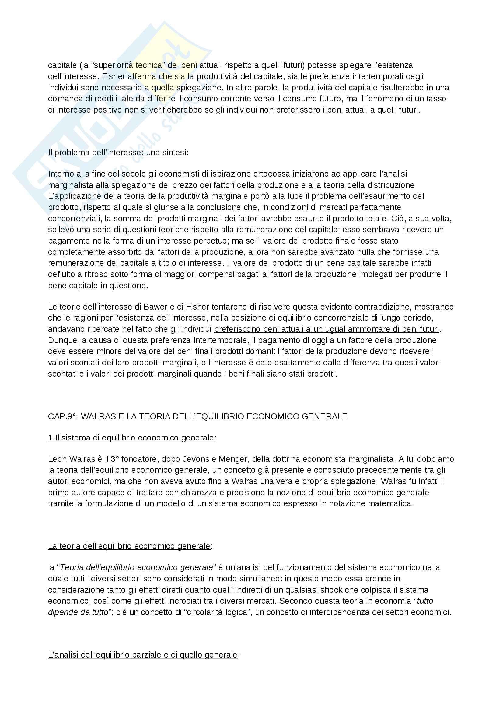 Riassunto esame Storia del Pensiero Economico, prof. Bini, libro consigliato Profilo di storia del pensiero economico, Zamagni Pag. 36