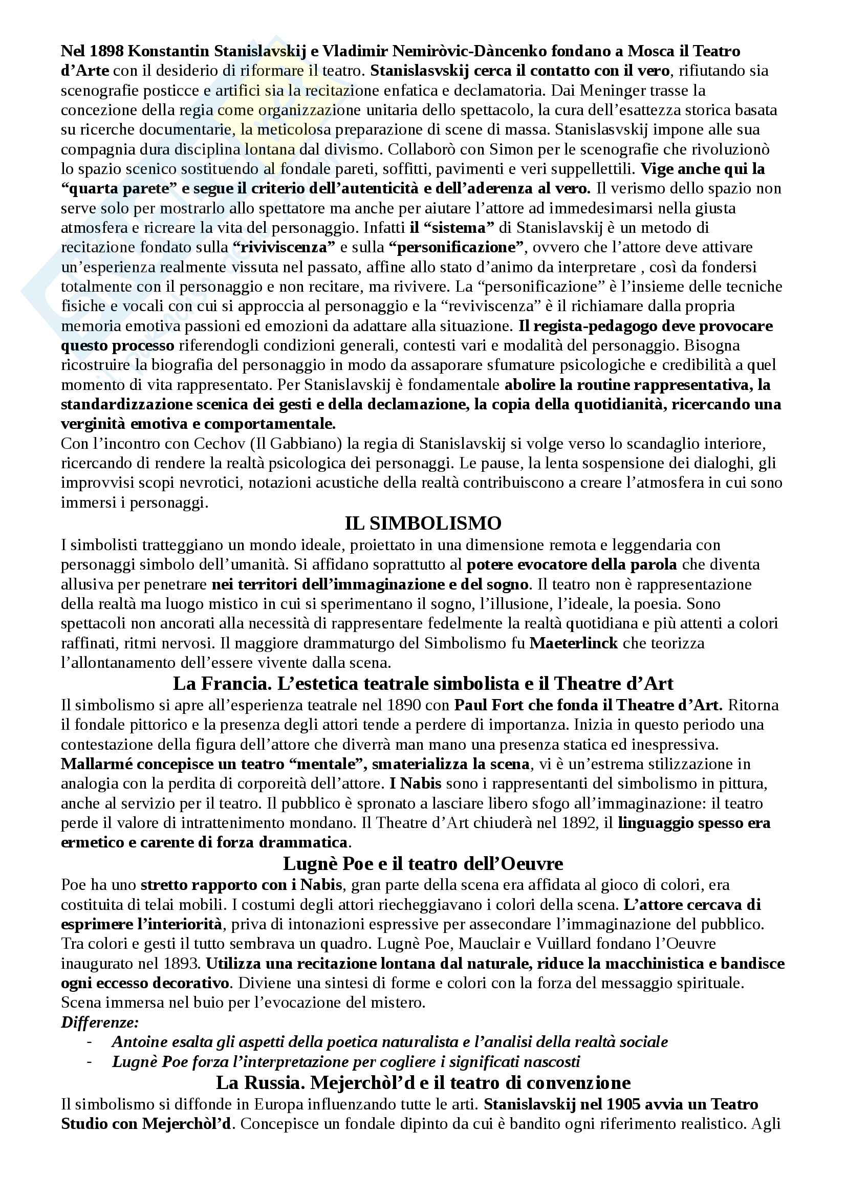 Riassunto esame Storia del teatro e dello spettacolo, prof. Egidio Pag. 11