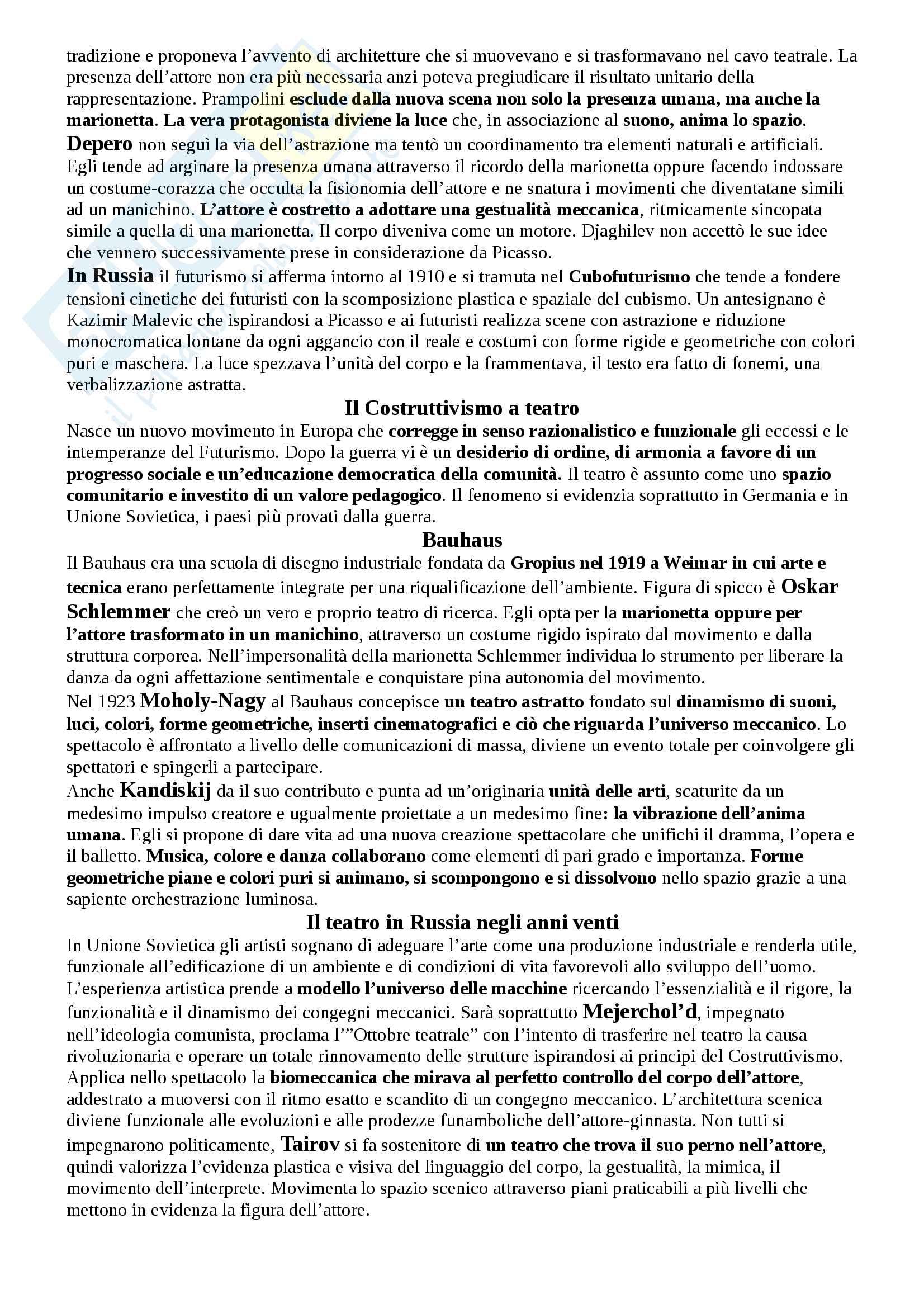 Riassunto esame Storia del teatro e dello spettacolo, prof. Egidio Pag. 16