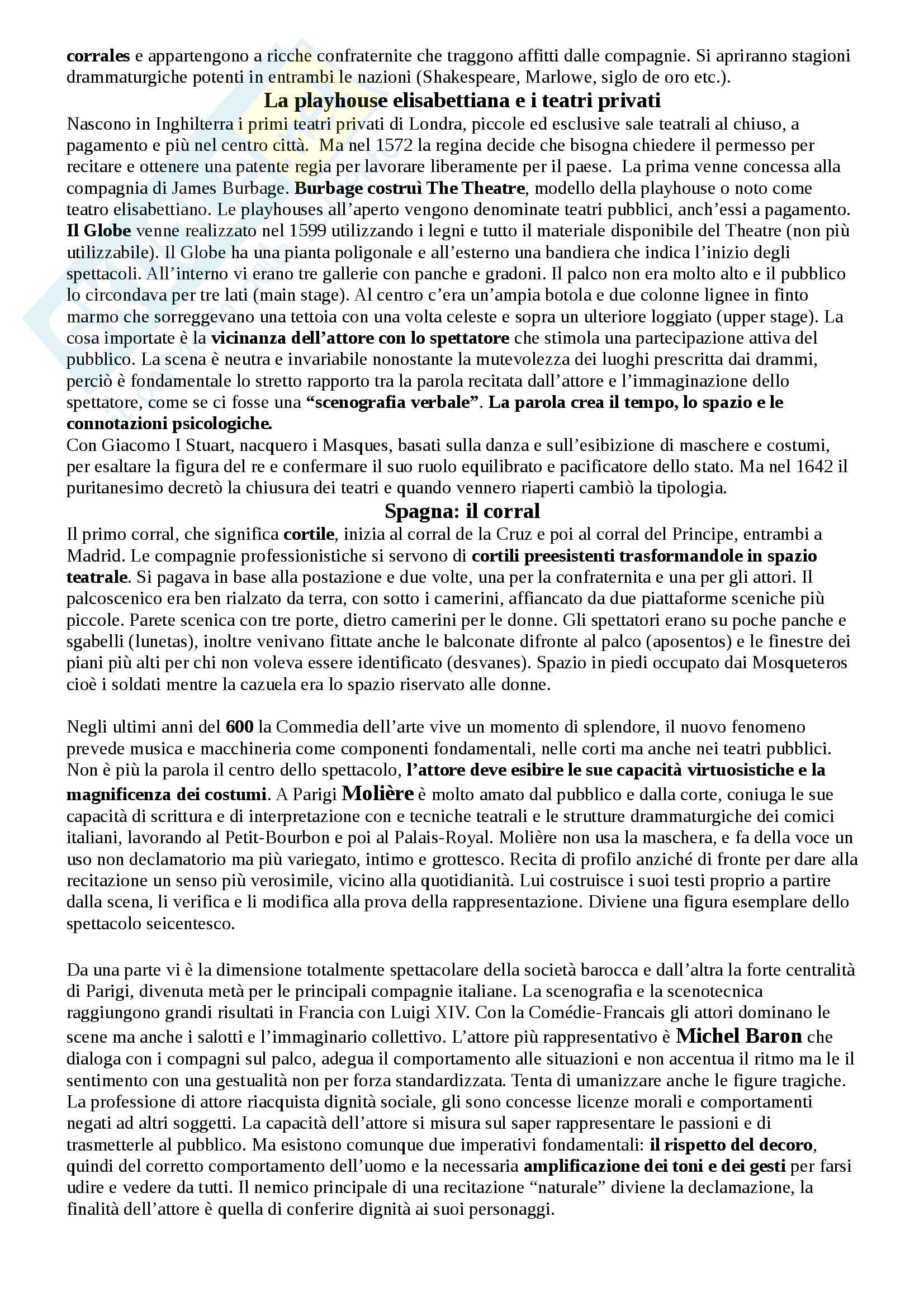 Riassunto esame Storia del teatro e dello spettacolo, prof. Egidio Pag. 6