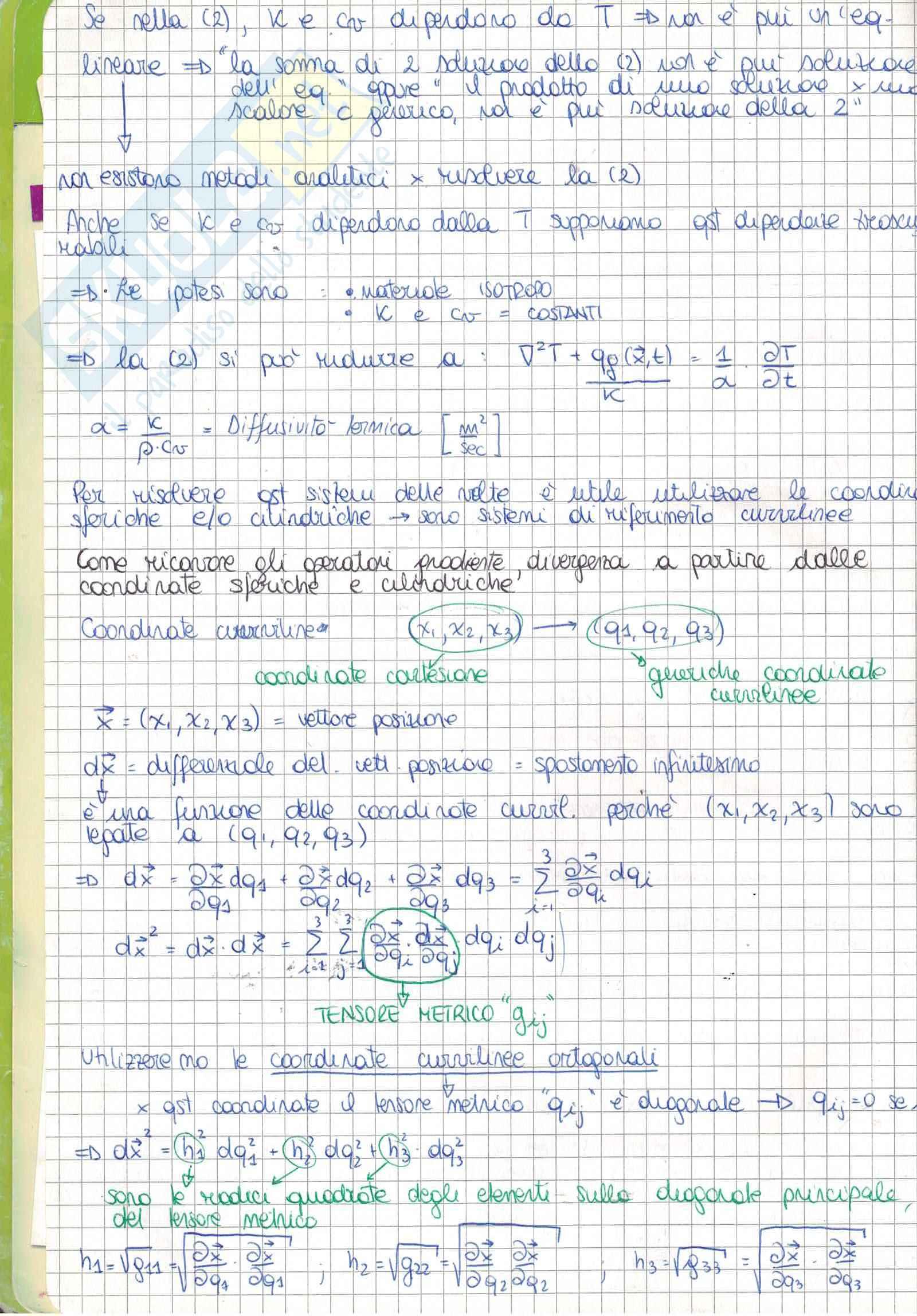 Appunti Trasmissione del calore m Pag. 2