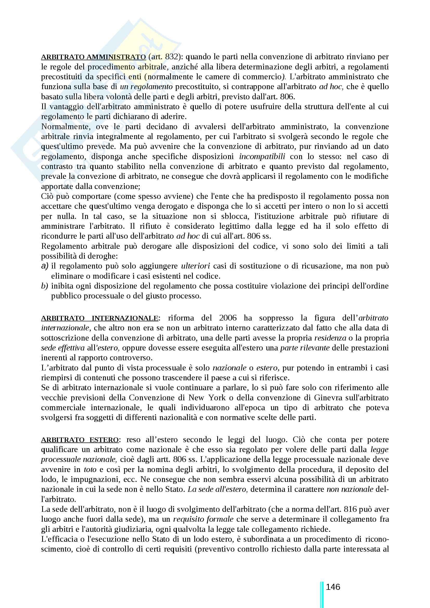 Riassunto esame Diritto processuale civile, prof. Ricci, libro consigliato Diritto processuale civile terzo volume, Ricci Pag. 146