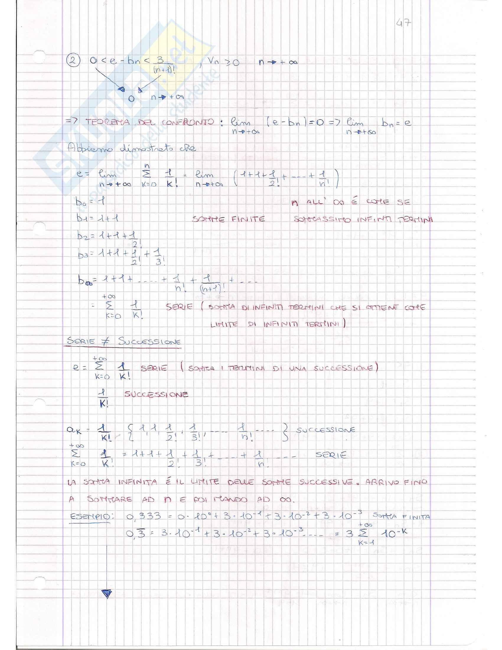 Serie Numeriche e Criteri, Analisi matematica I