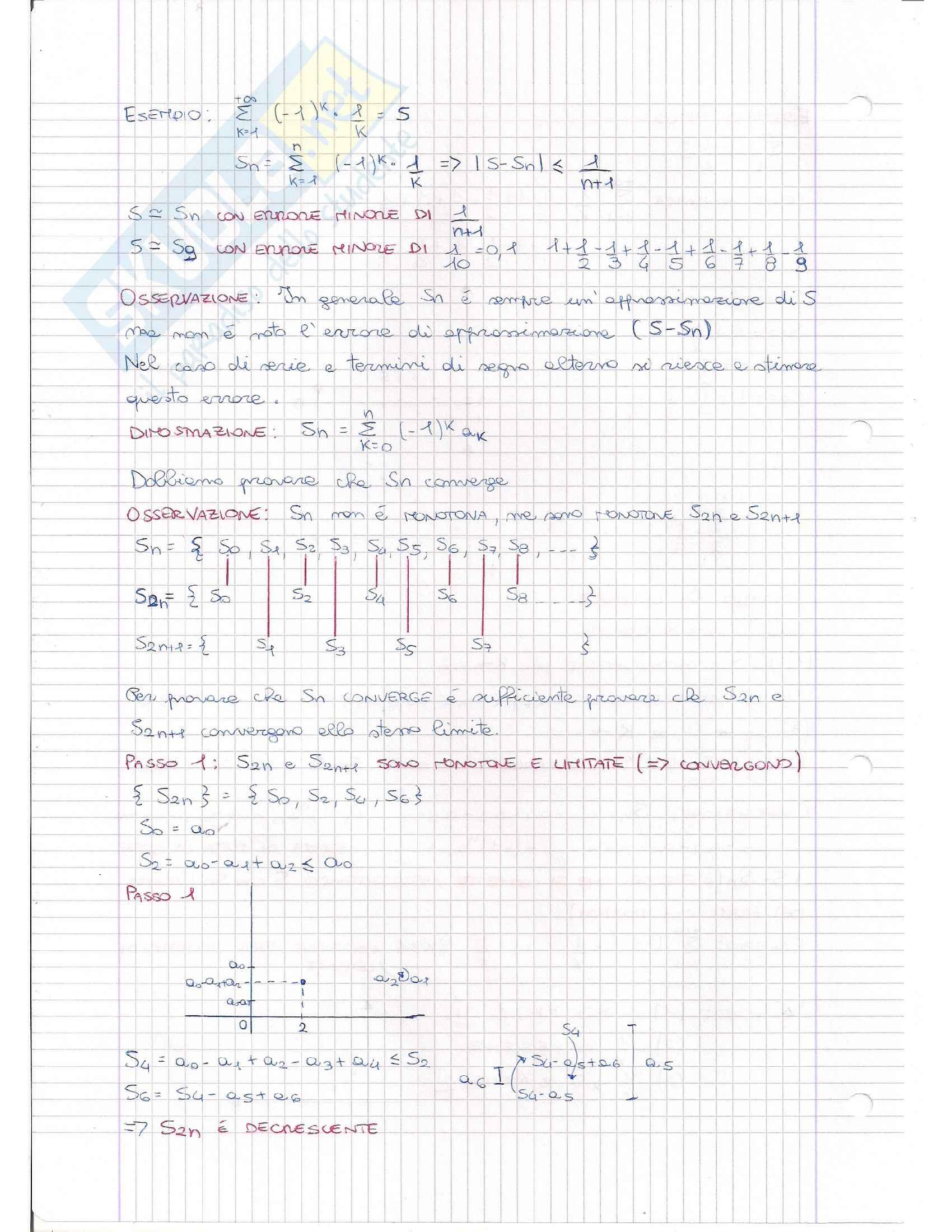 Serie Numeriche e Criteri, Analisi matematica I Pag. 16