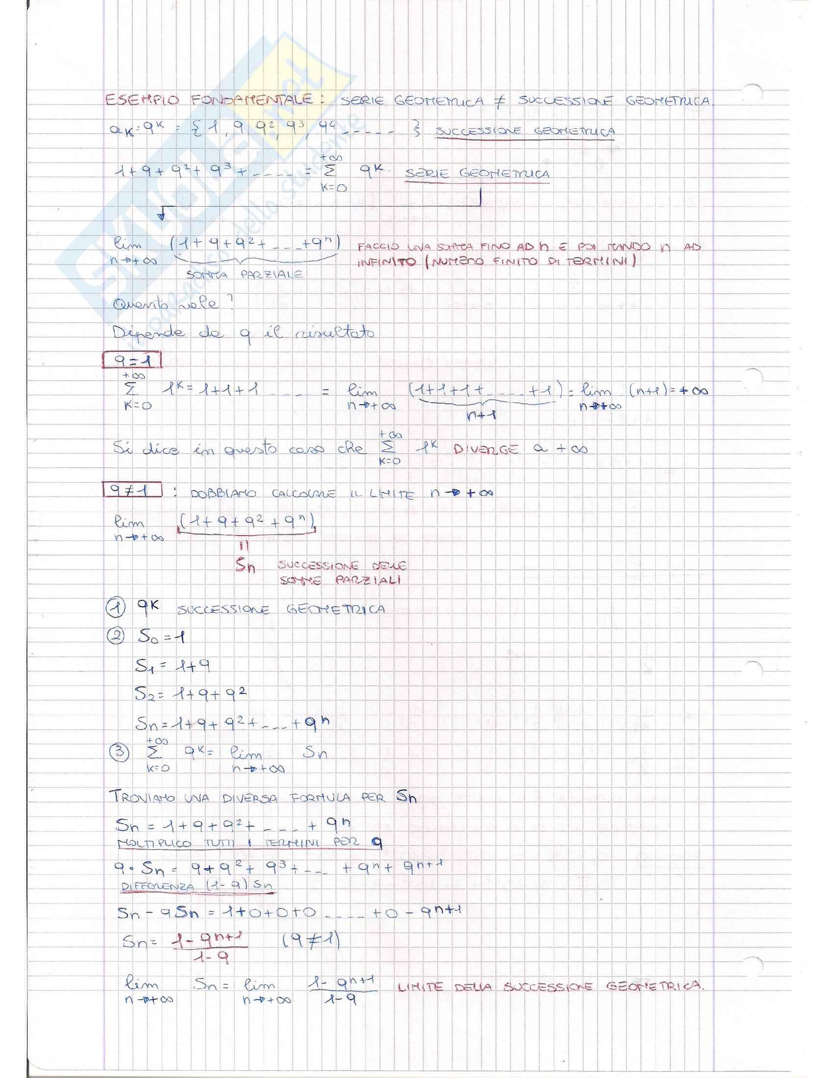 Serie Numeriche e Criteri, Analisi matematica I Pag. 2