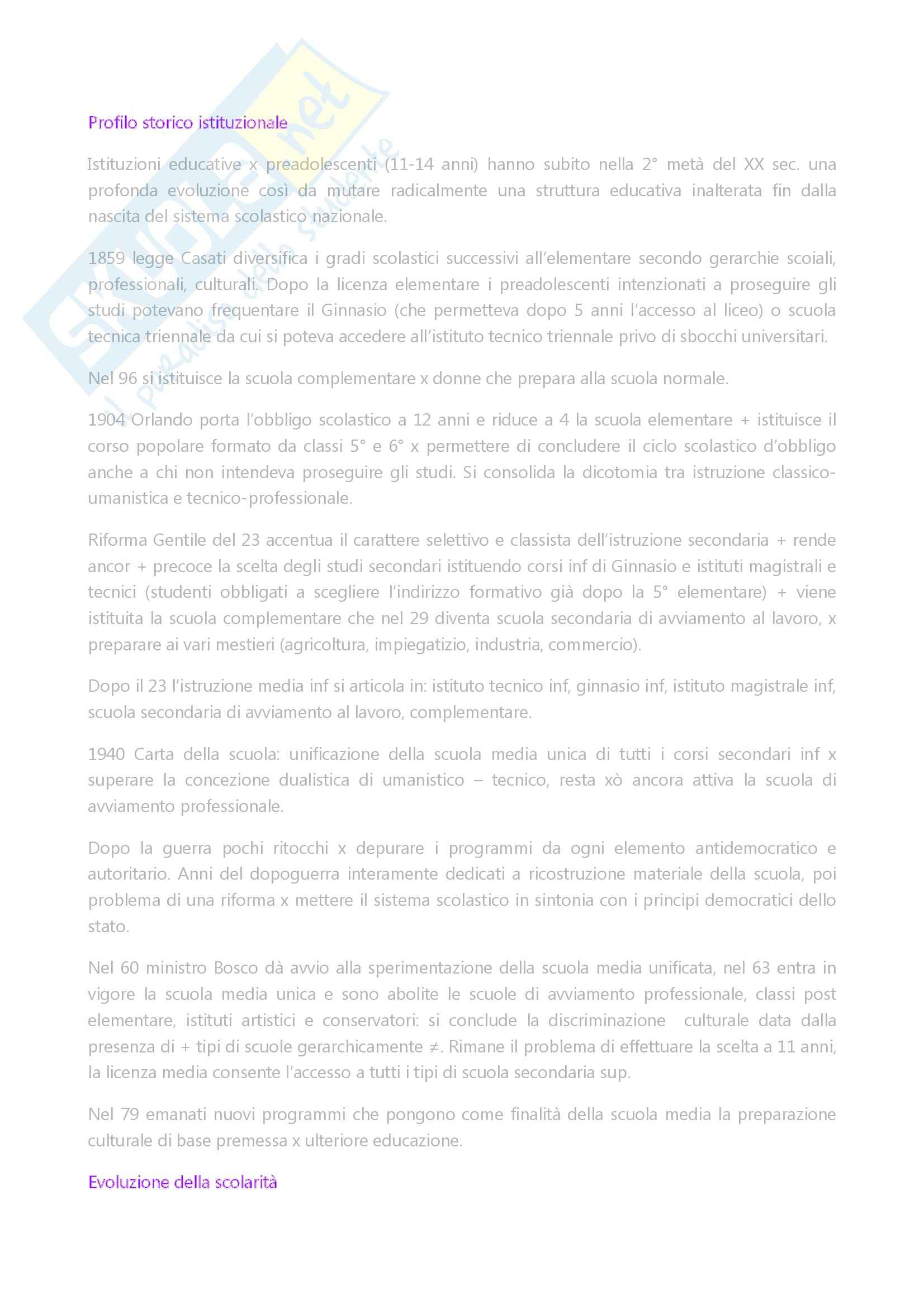 Riassunto esame Storia della scuola, prof. Di Pol, libro consigliato La scuola di base nella società italiana dal dopoguerra ad oggi, Di Pol Pag. 6