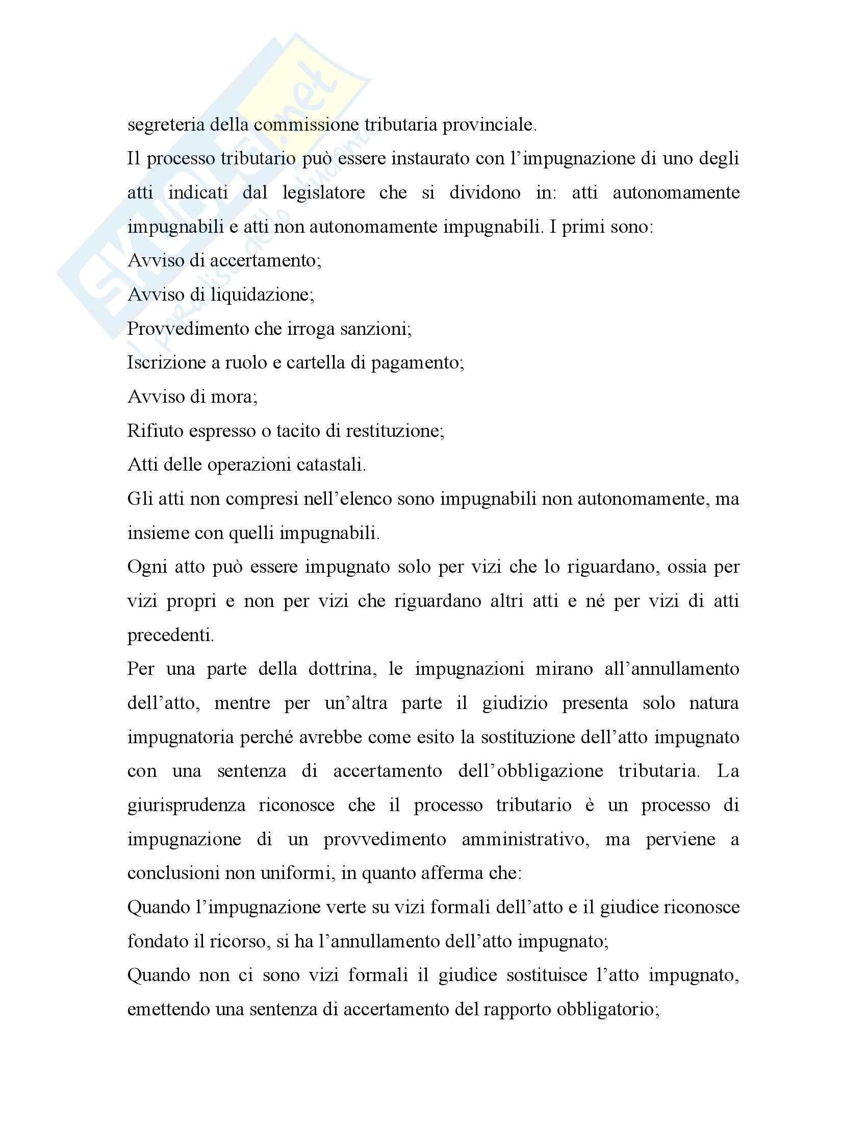 Diritto tributario - processo tributario - Tesauro - Appunti Pag. 6