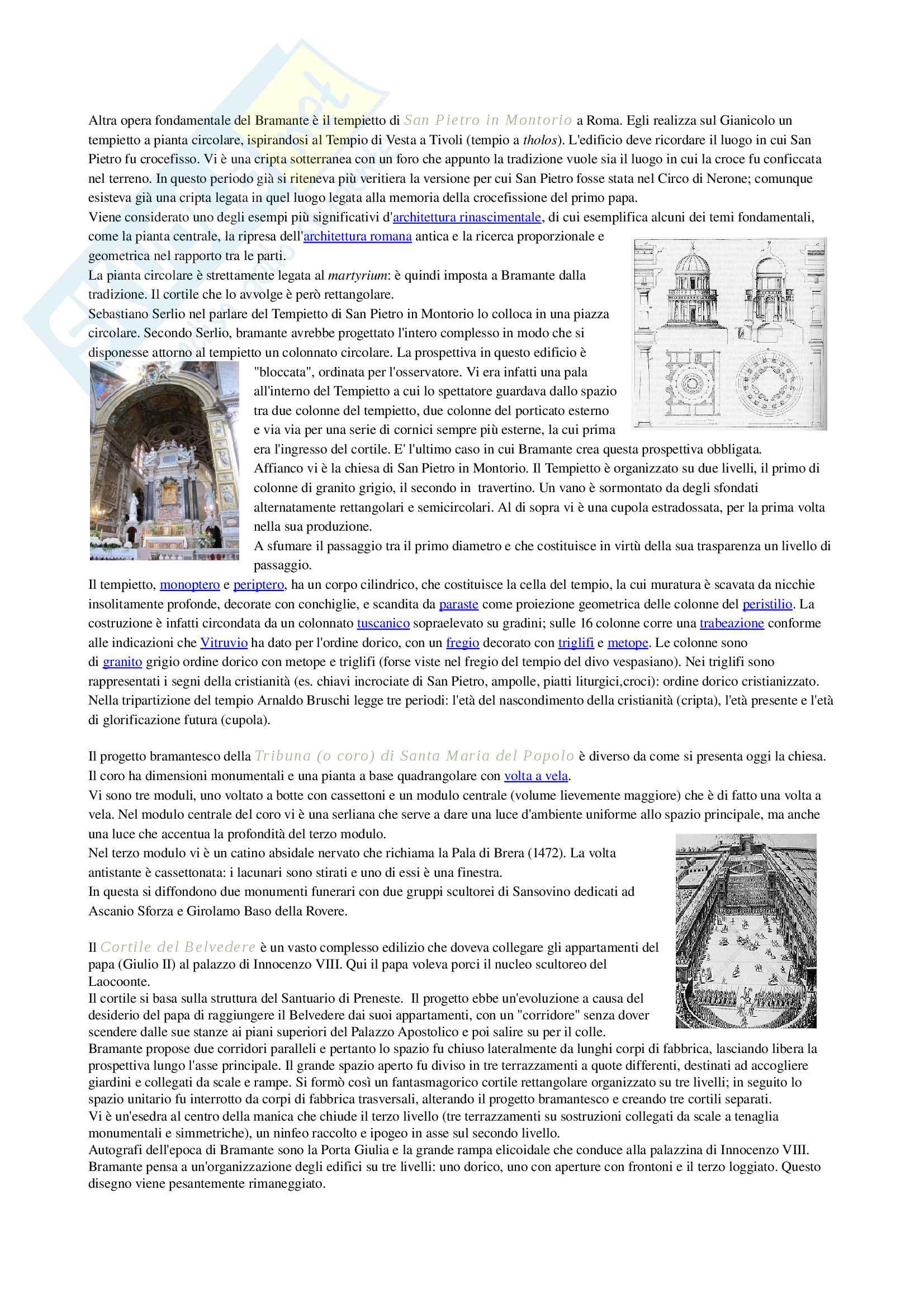 Architettura rinascimentale in Italia e architetti principali Pag. 6