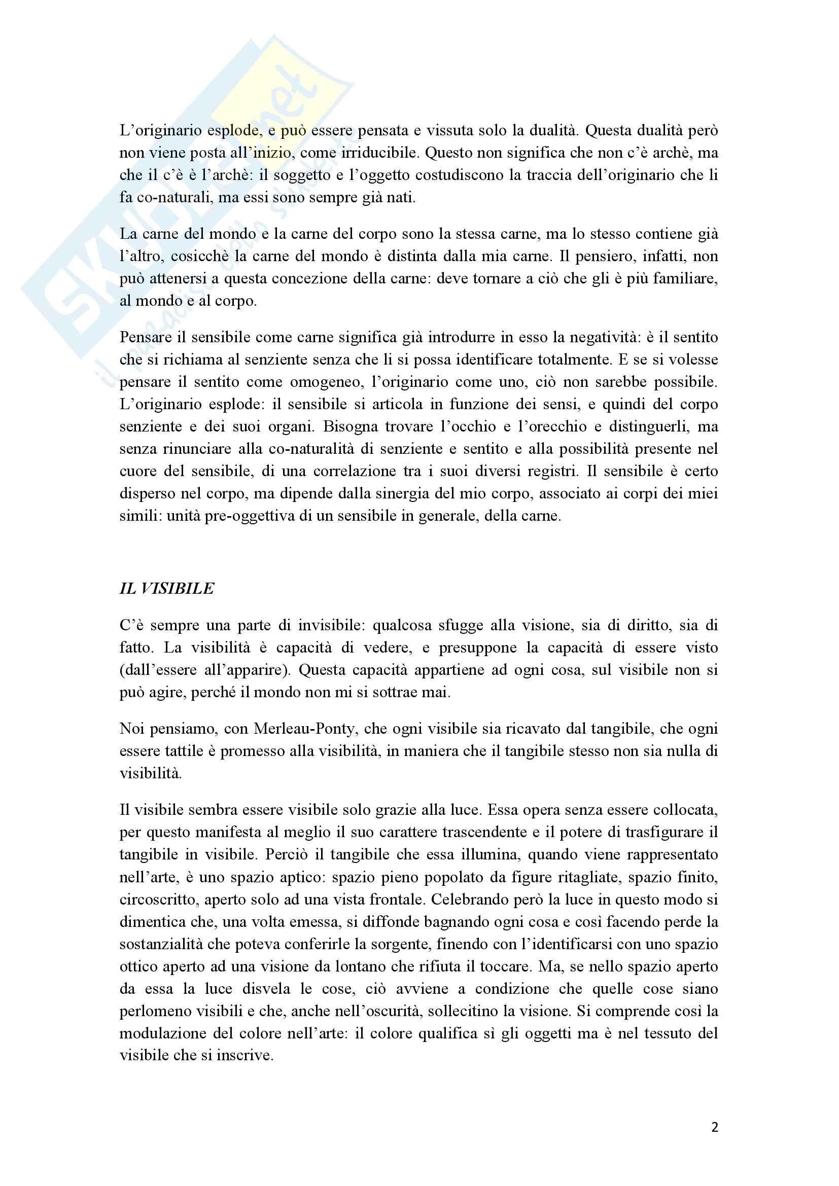 Riassunto esame Estetica, prof. Cappelletto, libro consigliato L'occhio e l'orecchio, Dufrenne Pag. 2