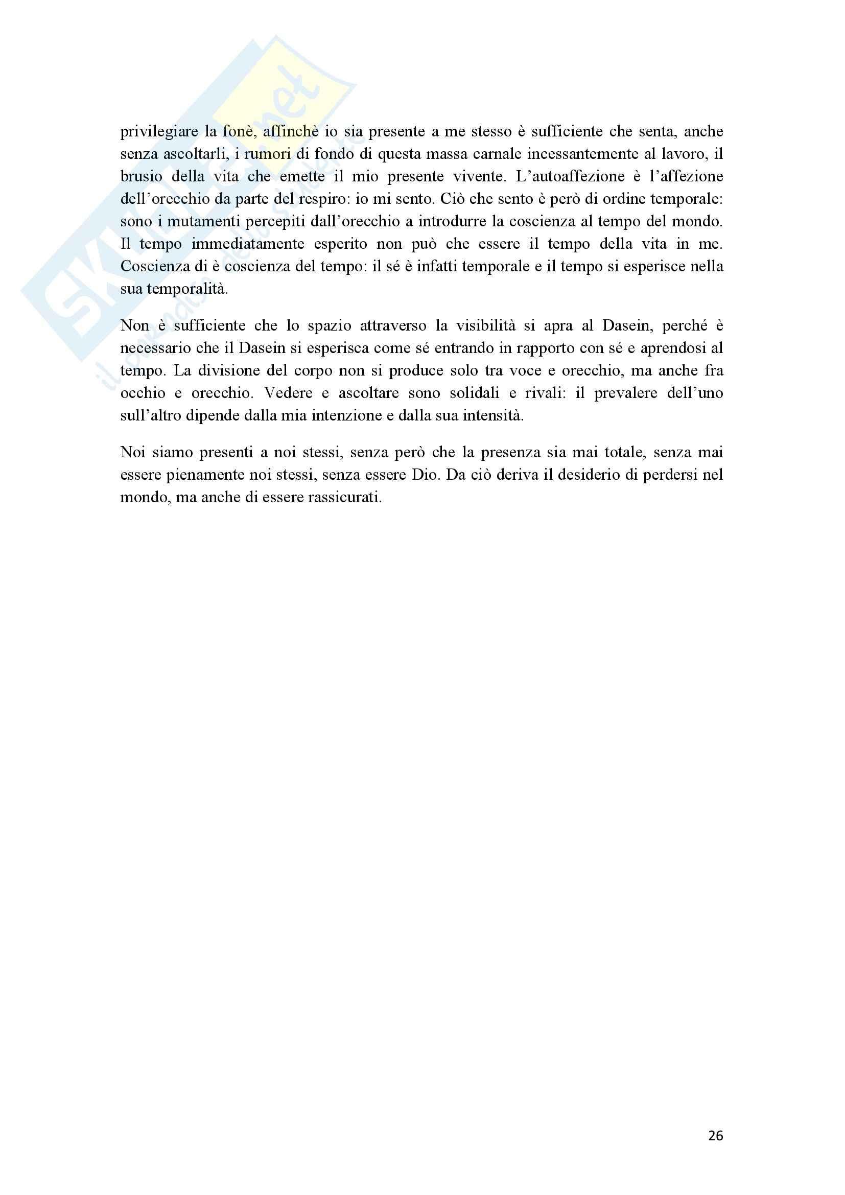 Riassunto esame Estetica, prof. Cappelletto, libro consigliato L'occhio e l'orecchio, Dufrenne Pag. 26