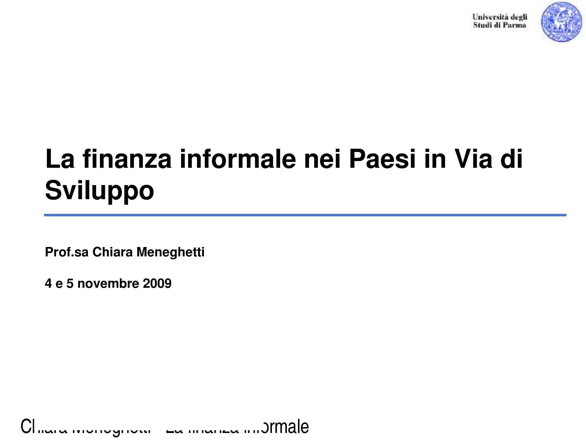Finanza informale