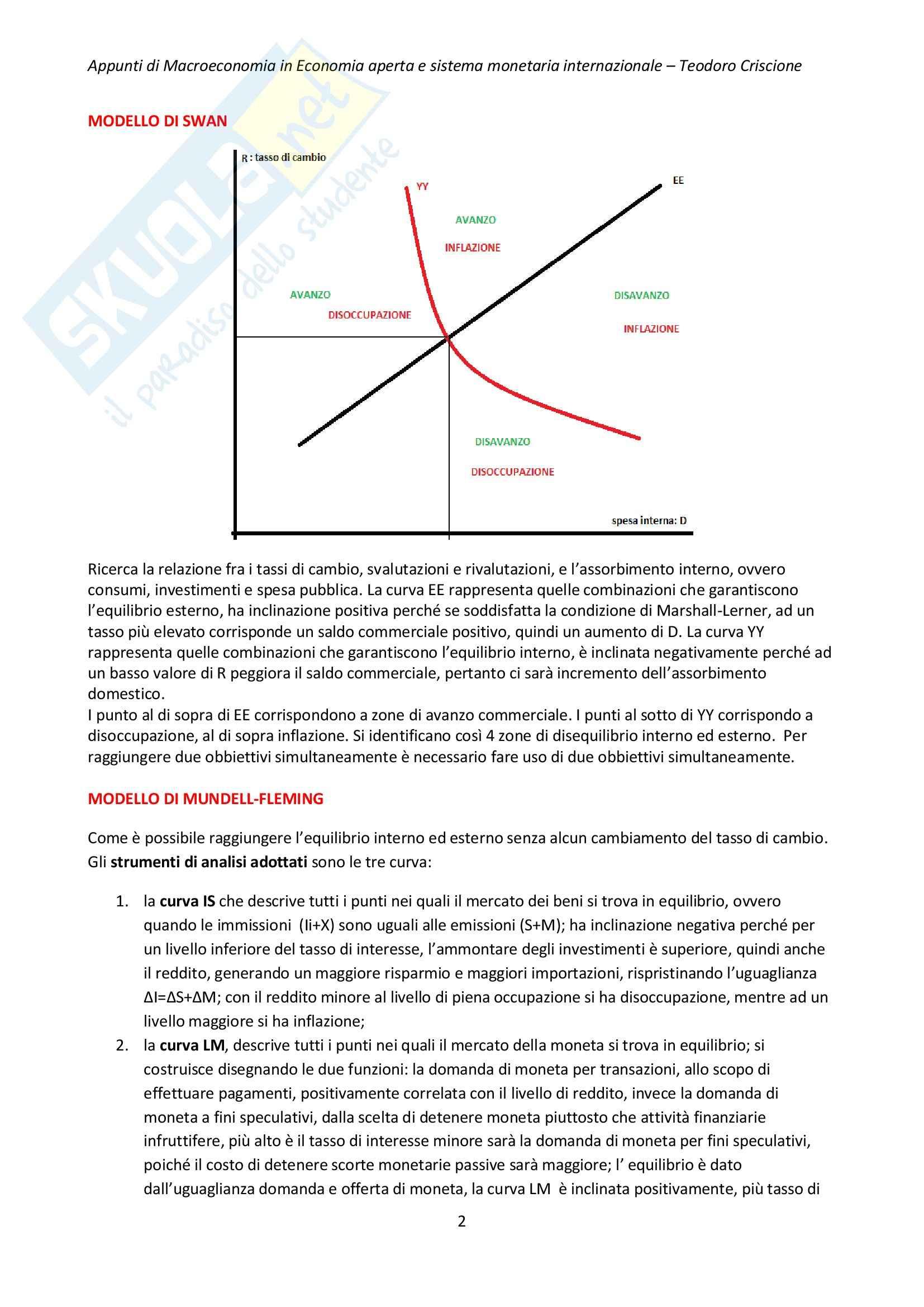 Riassunto esame Economia internazionale, prof. Cifarelli, libro consigliato Economia internazionale, Salvatore Dominick (2 di 2) Pag. 2