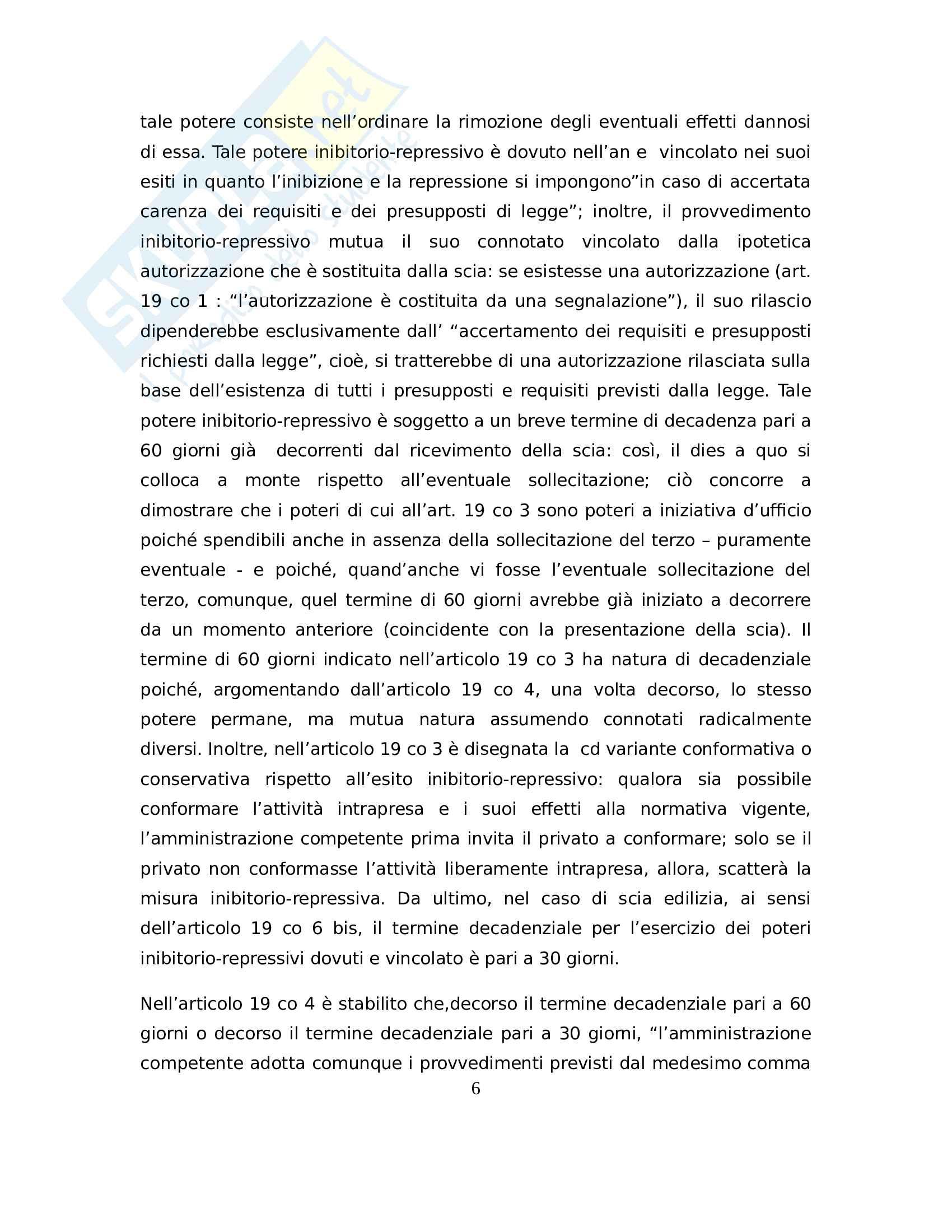 La scia e tutela del terzo, giurisprudenza collegata, diritto amministrativo Pag. 6
