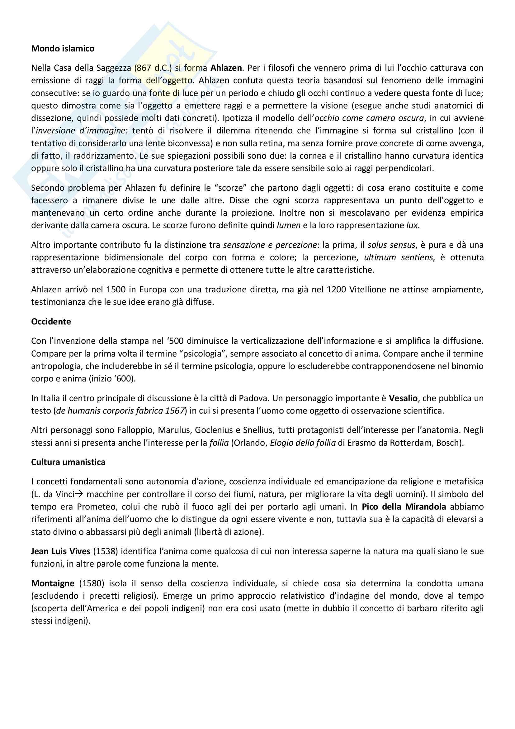 Storia della psicologia prof.i Antonelli/Passione Pag. 2